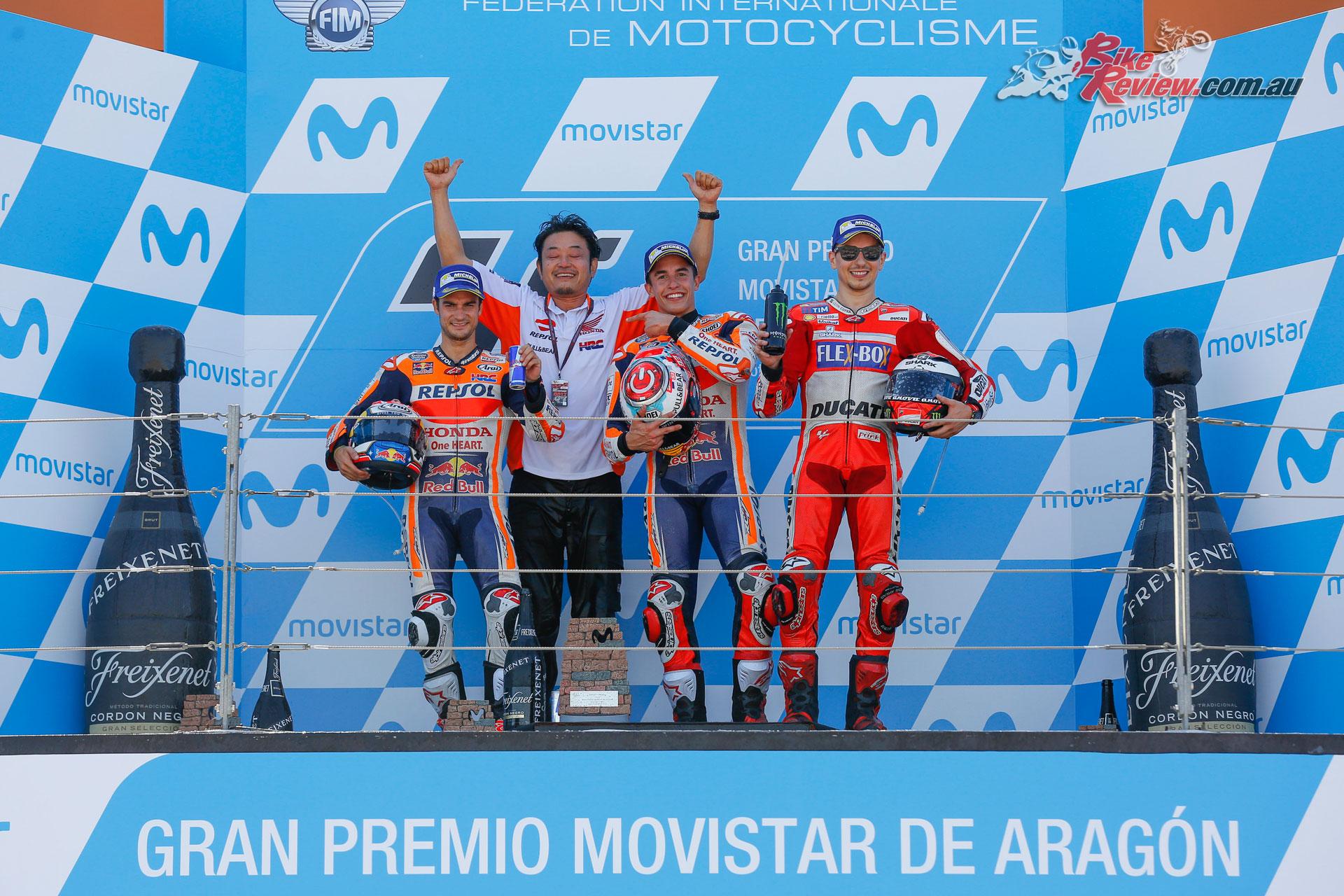 MotoGP Podium - Aragon 2017