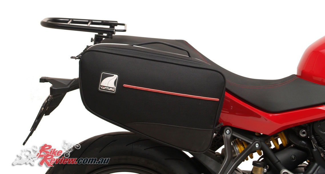Panniers are also available with the Ventura Bonneville 24L items