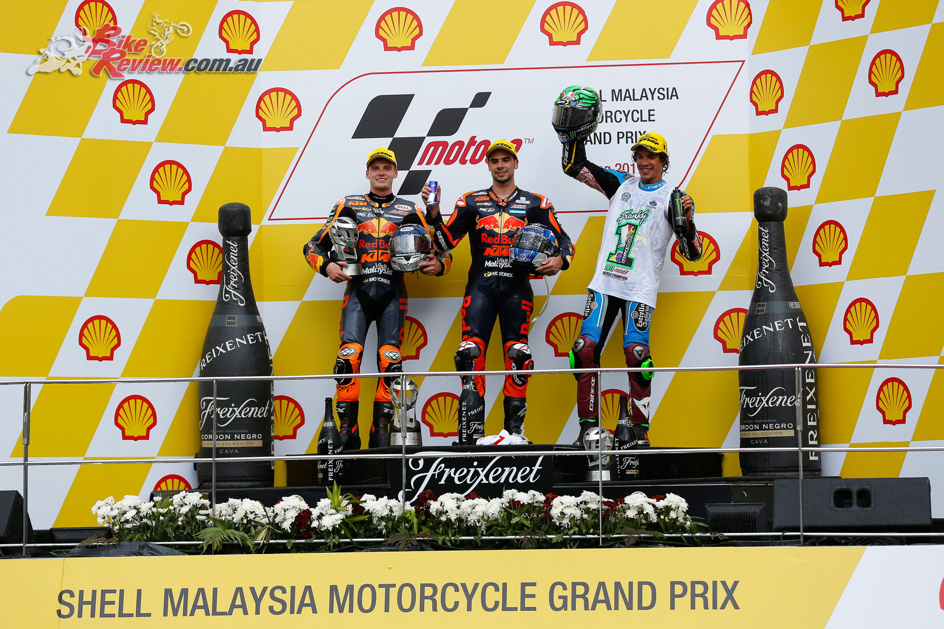 The Moto2 Podium once again saw KTM take the 1-2