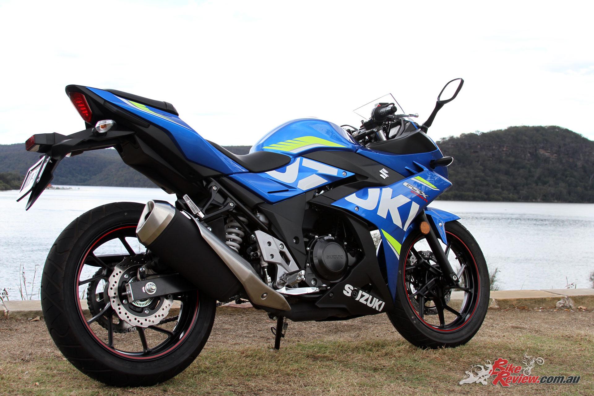The GSX250R offers nakedbike ergonomics, a confidence inspiring CoG and enough performance for Australian roads.
