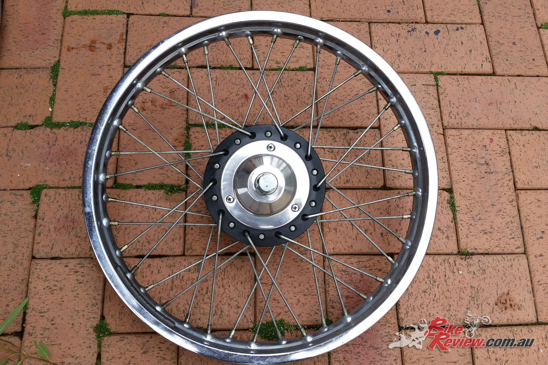 Original rims were replaced with alloy shouldered rims, with stainless steel spokes.