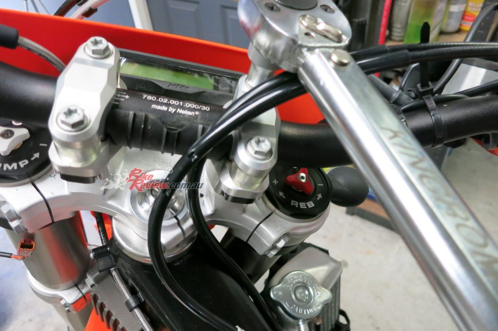 Position the bars to where you want them and torque the bolts up - it is really important that you stick to the recommended torque settings and use a torque wrench, or the system may not work to full effect.