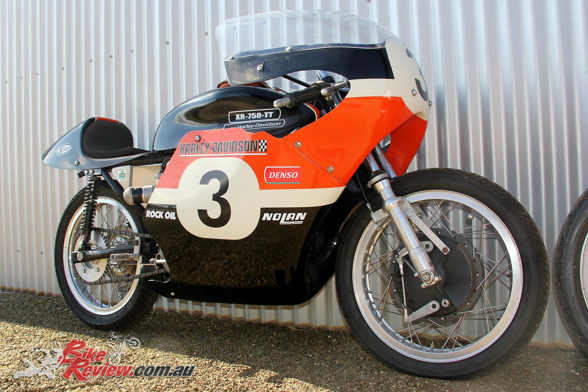 A Harley-Davidson XR 750 TT replica