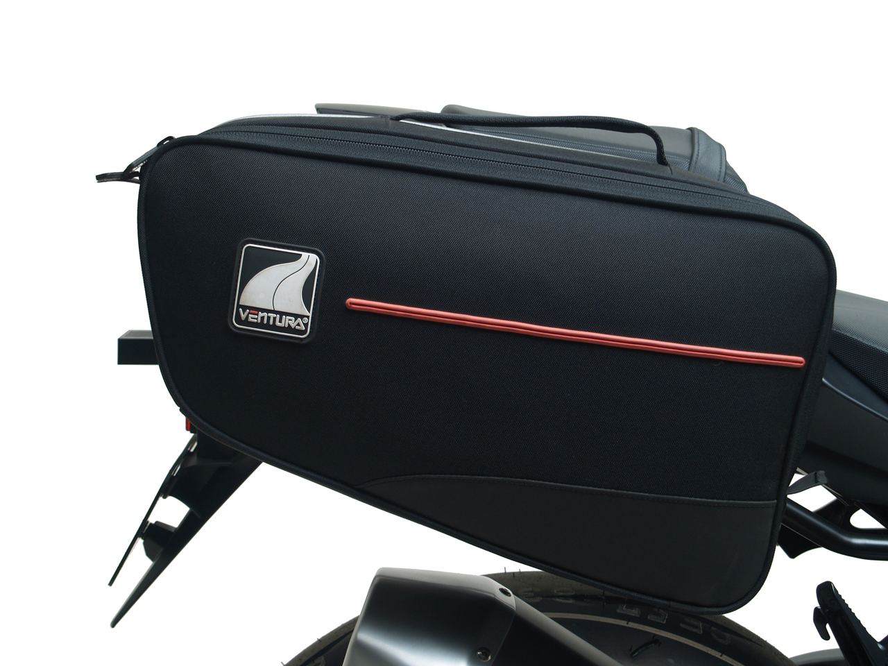 The Bonneville 24L Panniers include mounting hardware for use with L-brackets and are a great way of expanding regular Ventura luggage capacity further