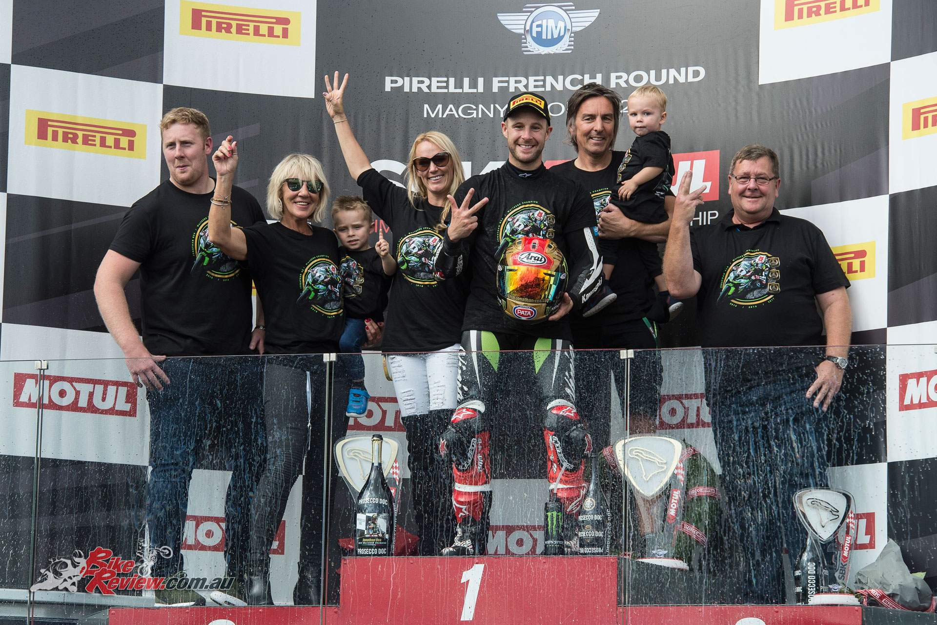Jonathan Rea wins his third consecutive WSBK title - Image: BeeGee Images