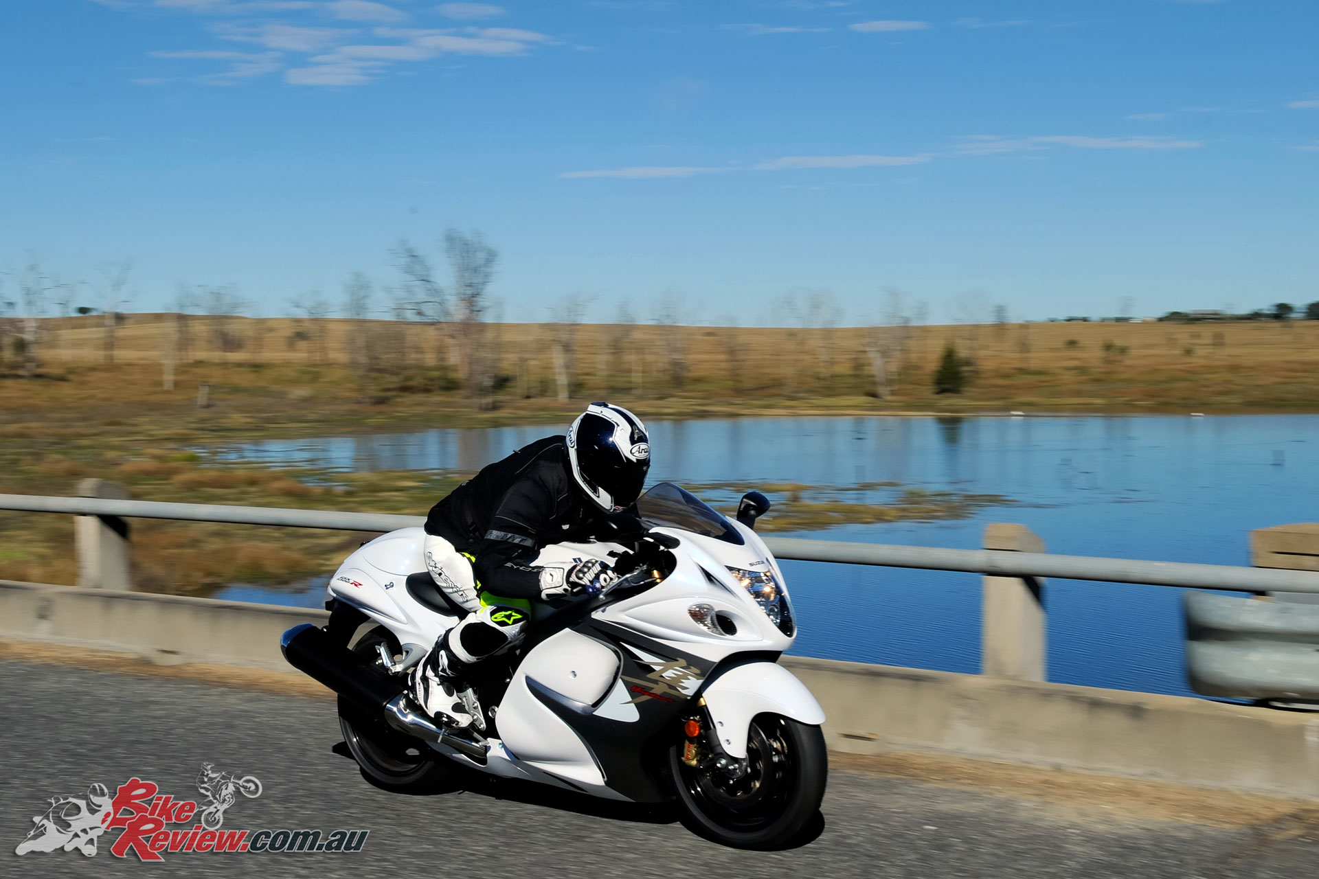 The Hayabusa isn't such a weapon with incredible performance, it's also a great sports-touring option, especially two-up