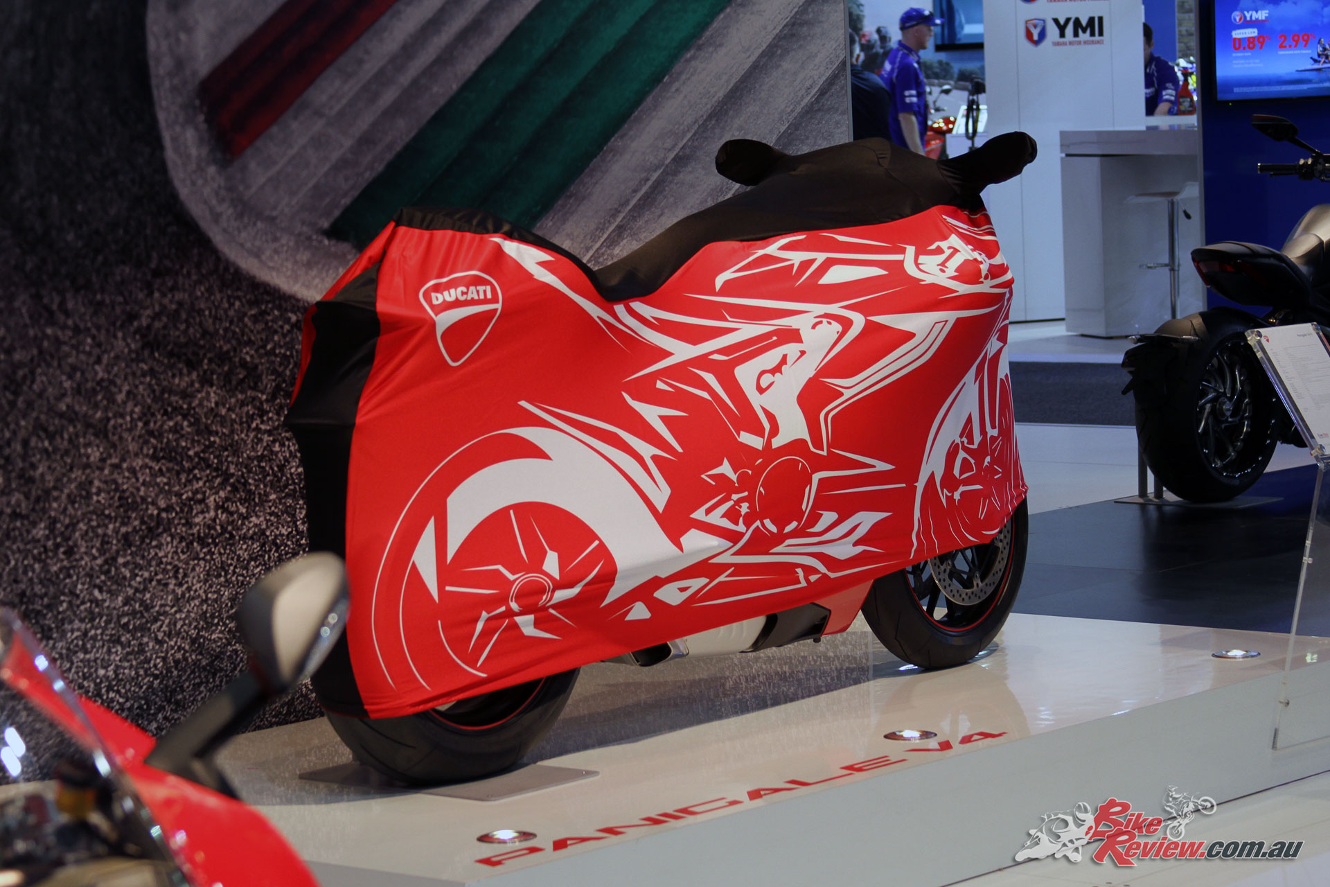A big unveil from Ducati was the Panigale V4, with the S model on display