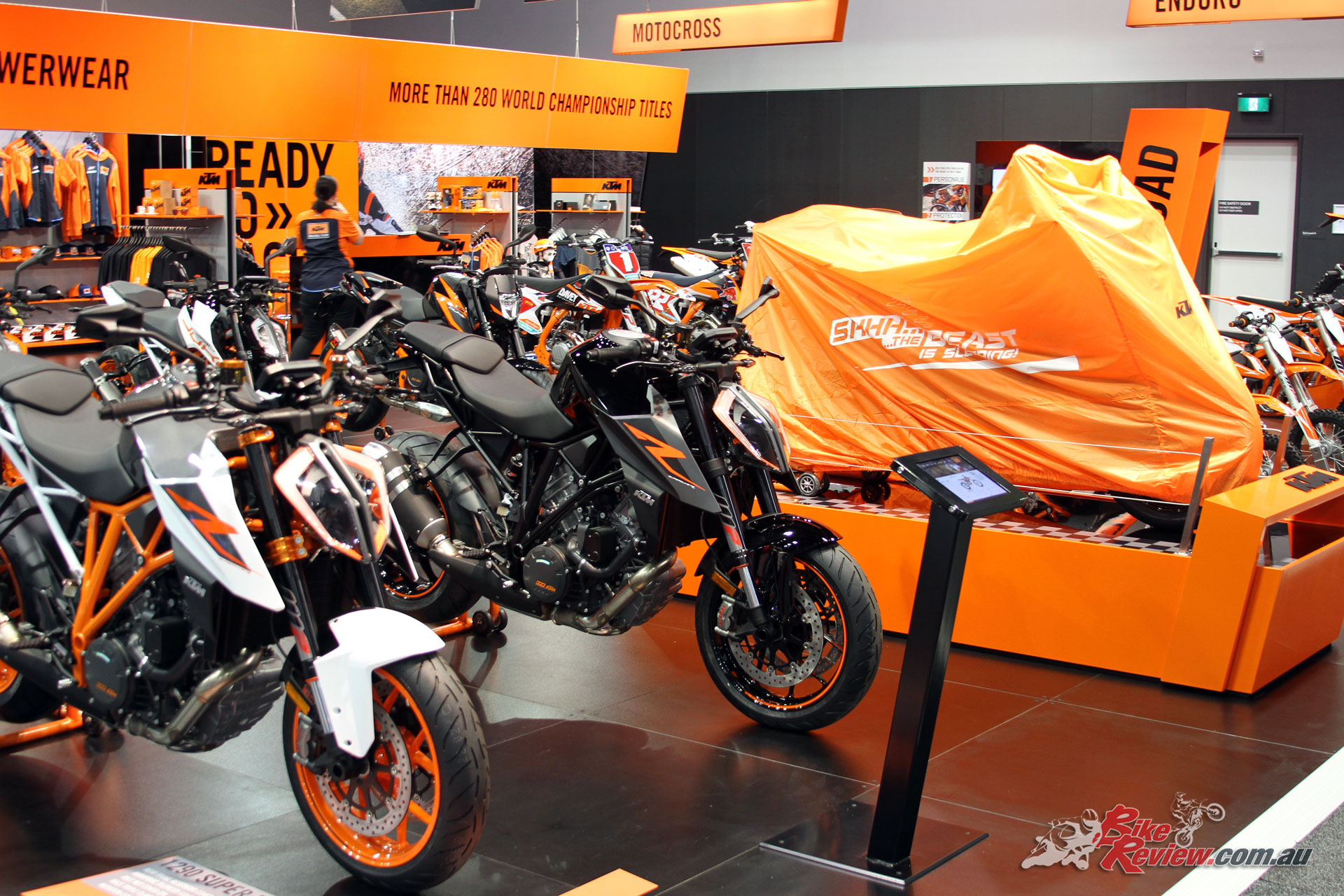 The big reveal at the KTM stand was the 790 Duke