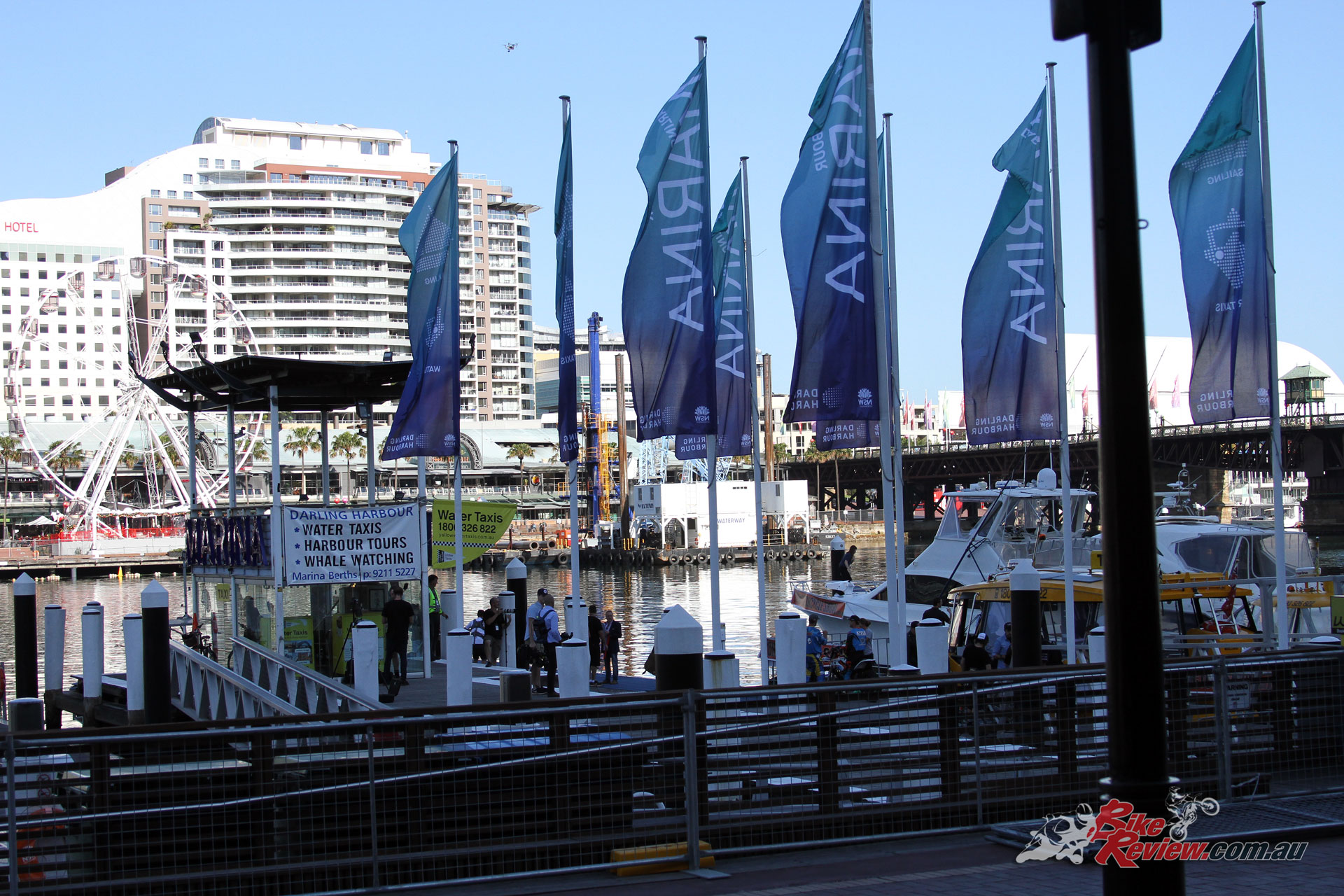Great conditions across the weekend ensured the perfect venue for the Sydney Motorcycle Show and Robbie Maddison's impressive waterbike displays