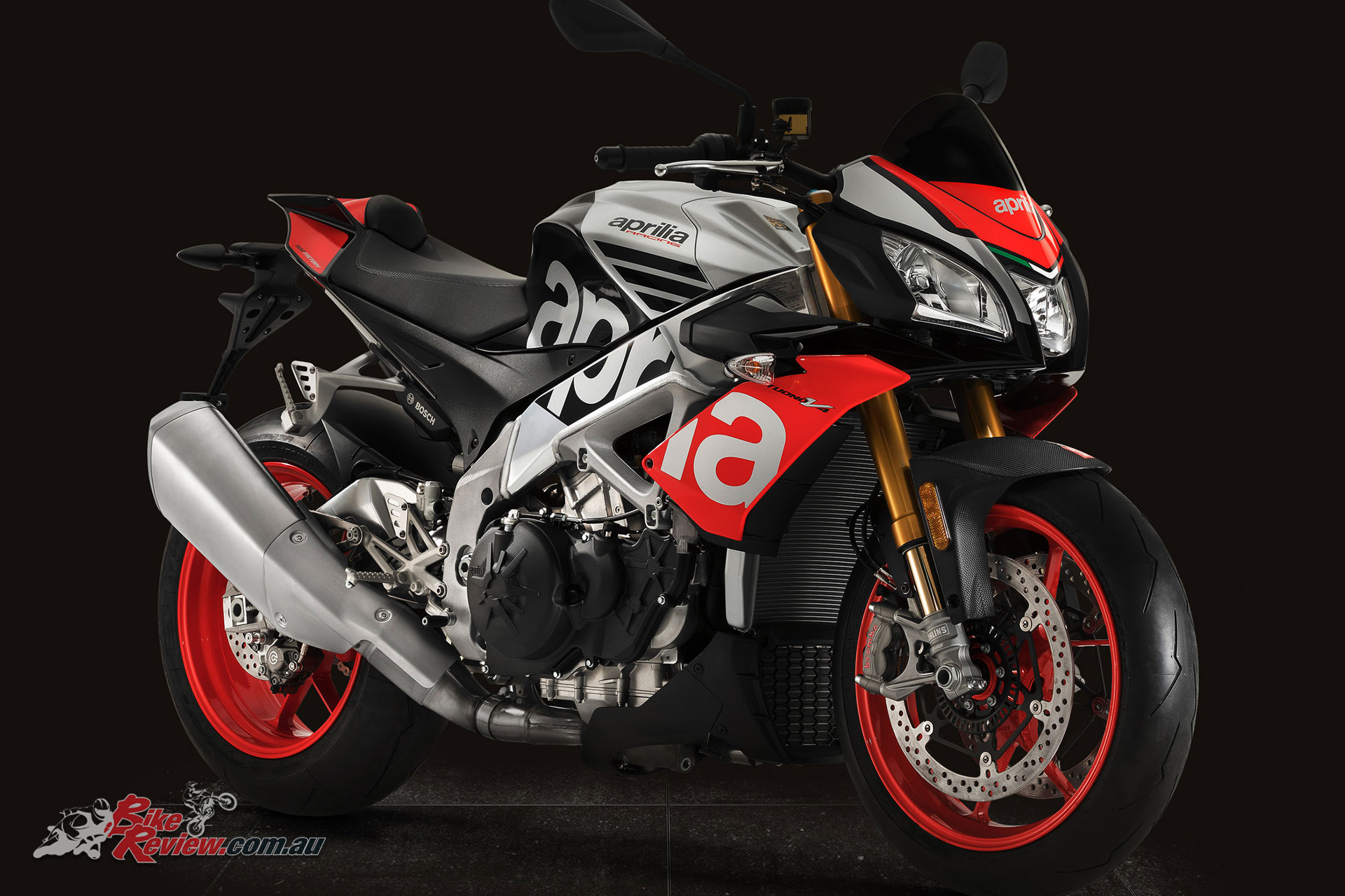 The 2018 Tuono V4 1100 Factory also includes a new Superpole colour scheme