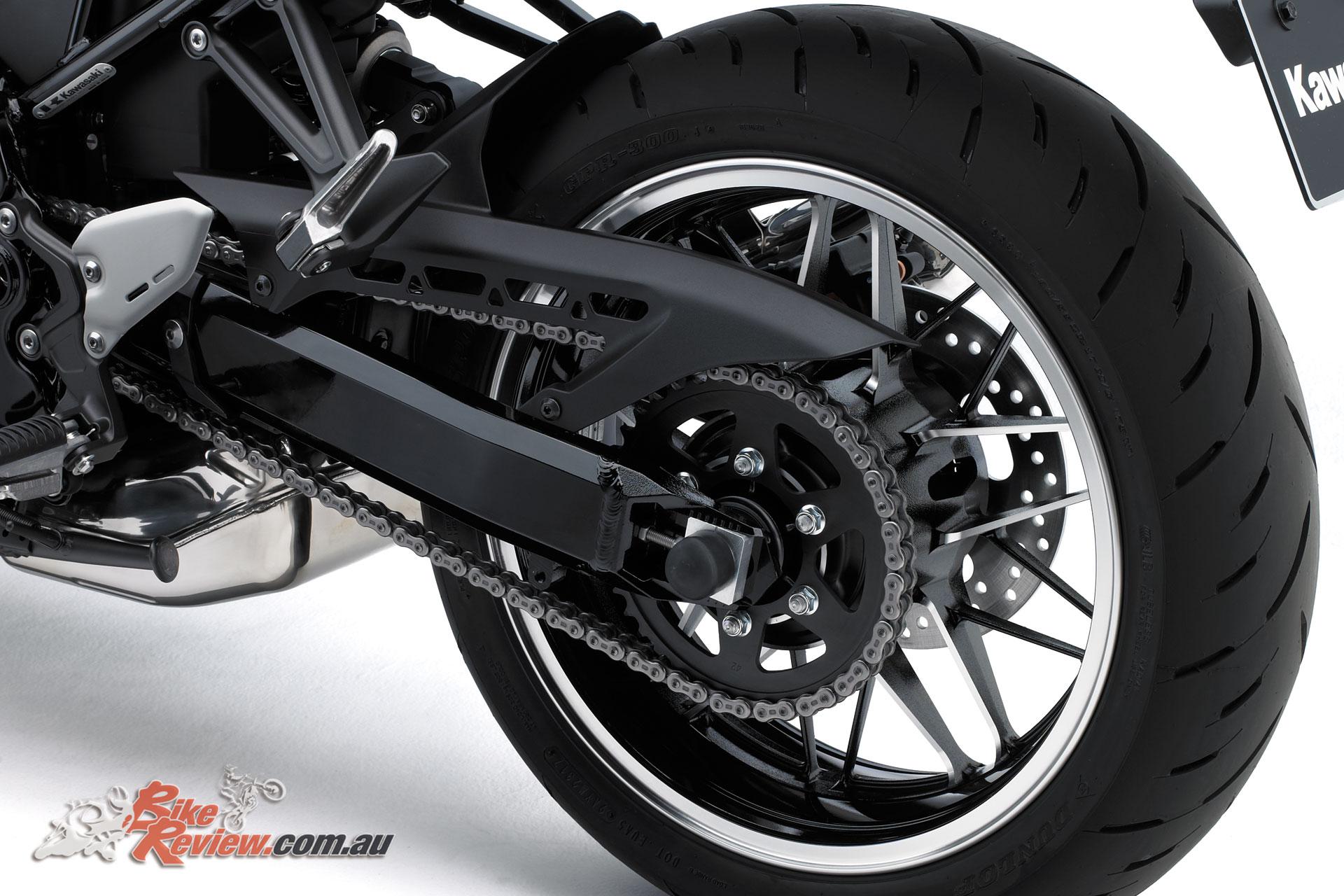 Z900RS rear wheel and swingarm