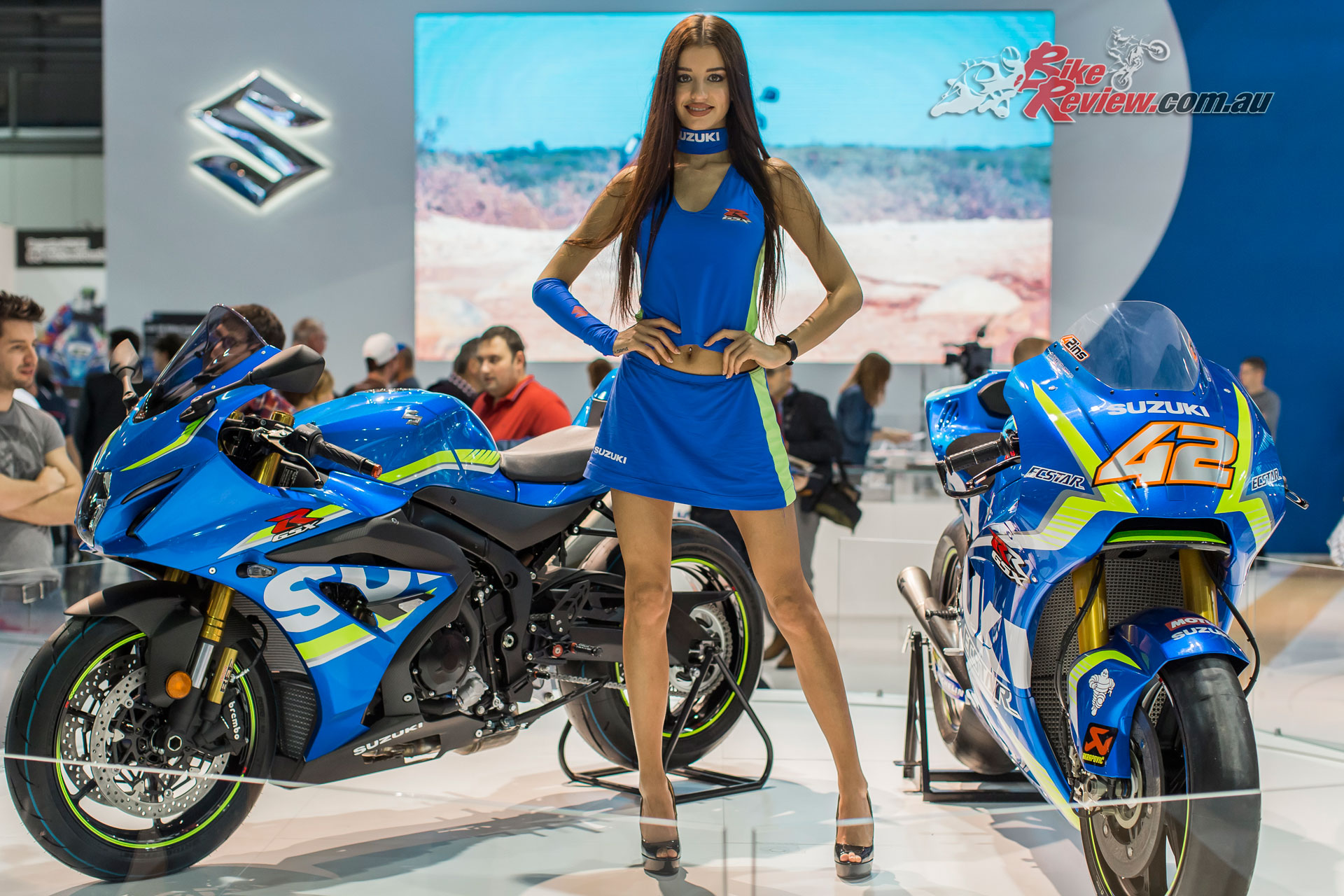 Suzuki concentrated on their existing models and race presence with one exception...