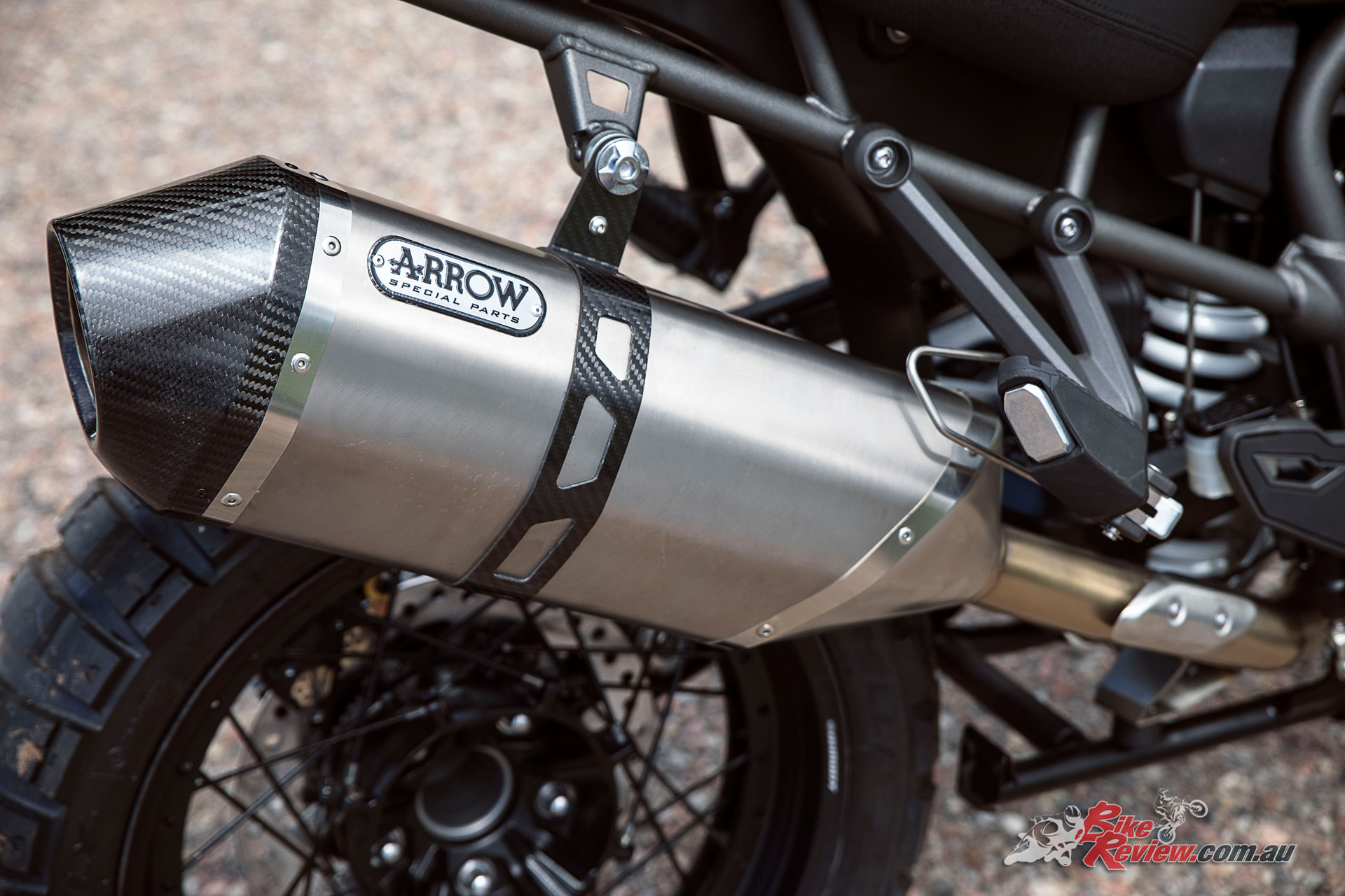 A new lighter standard can is now used, with Arrow accessory exhausts available as pictured