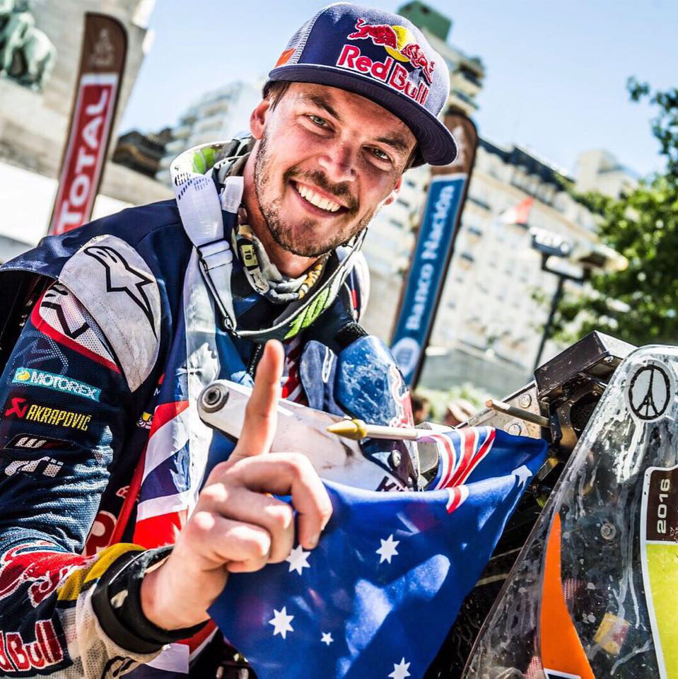 Dakar Champion Toby Price will join Robbie Maddison at 1:30pm on Saturday 25 November on the KTM stand to meet and greet fans.