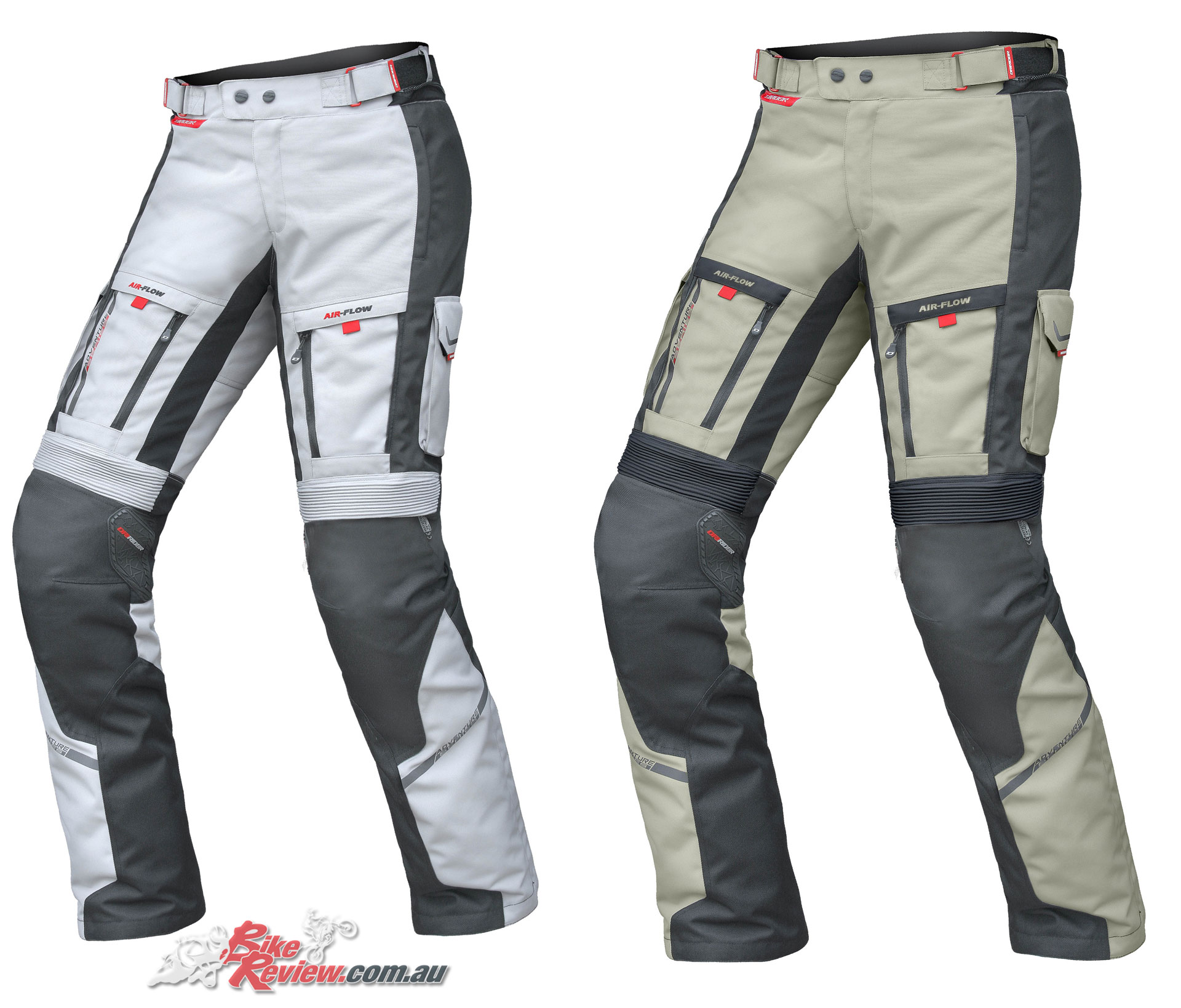 DriRider Vortex Adventure 2 Pant - Ladies (left), Mens (right, Sand)