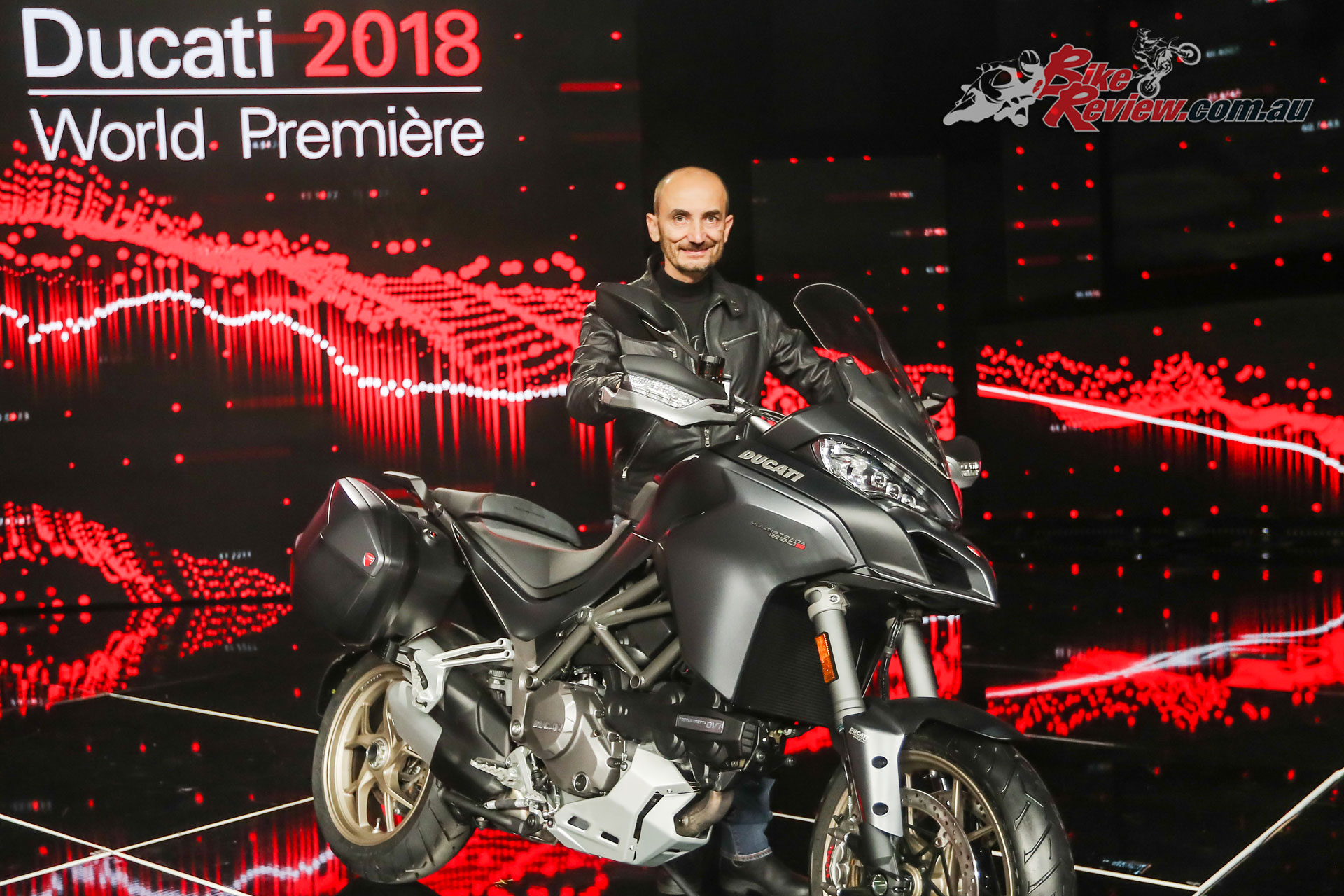 The updated for 2018 Multistrada 1260 was also unveiled