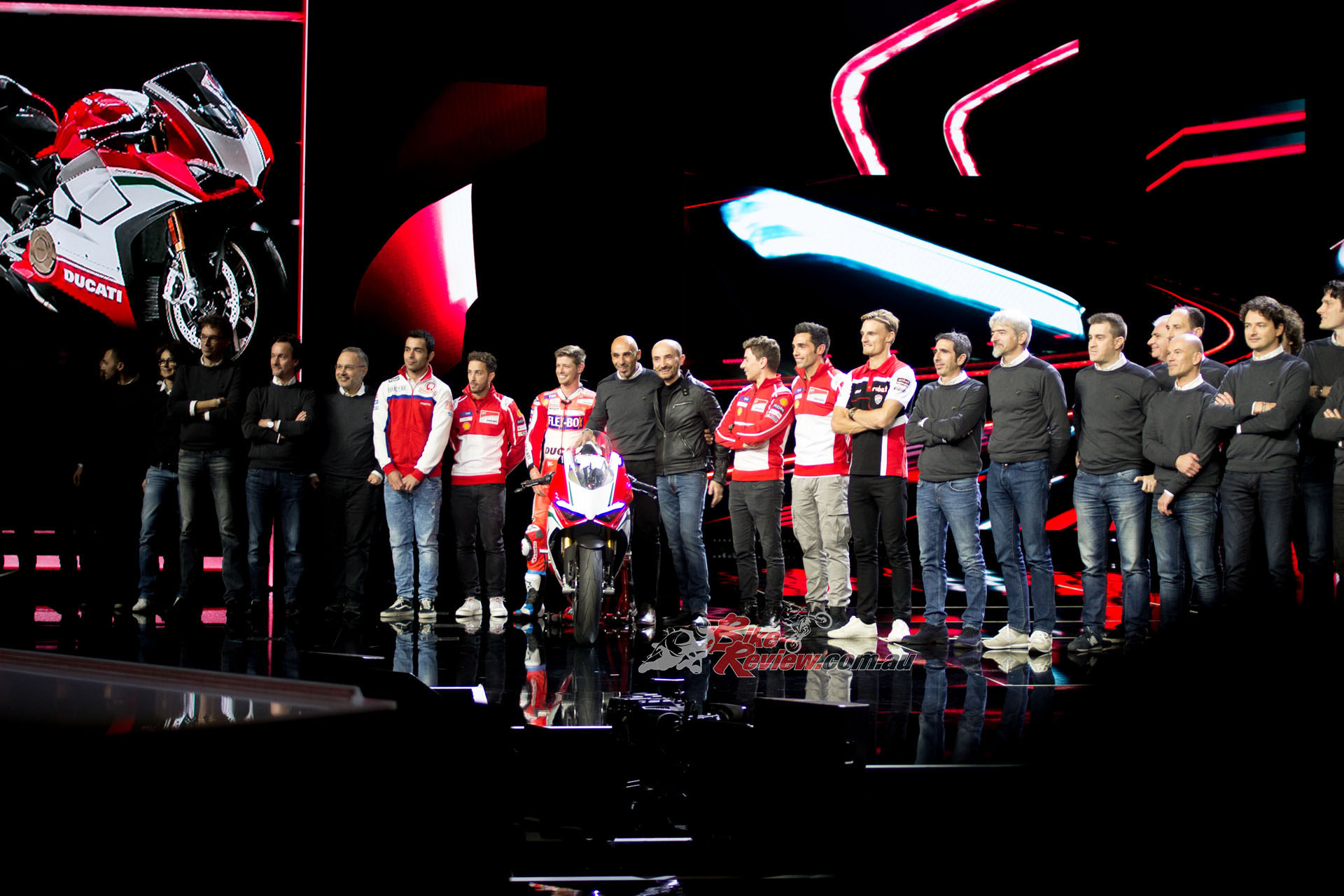 There was plenty of race representation in the Ducati unveilings