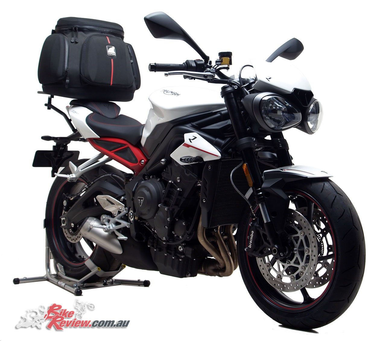 new product ventura for triumph 39 s street triple 765 bike review. Black Bedroom Furniture Sets. Home Design Ideas