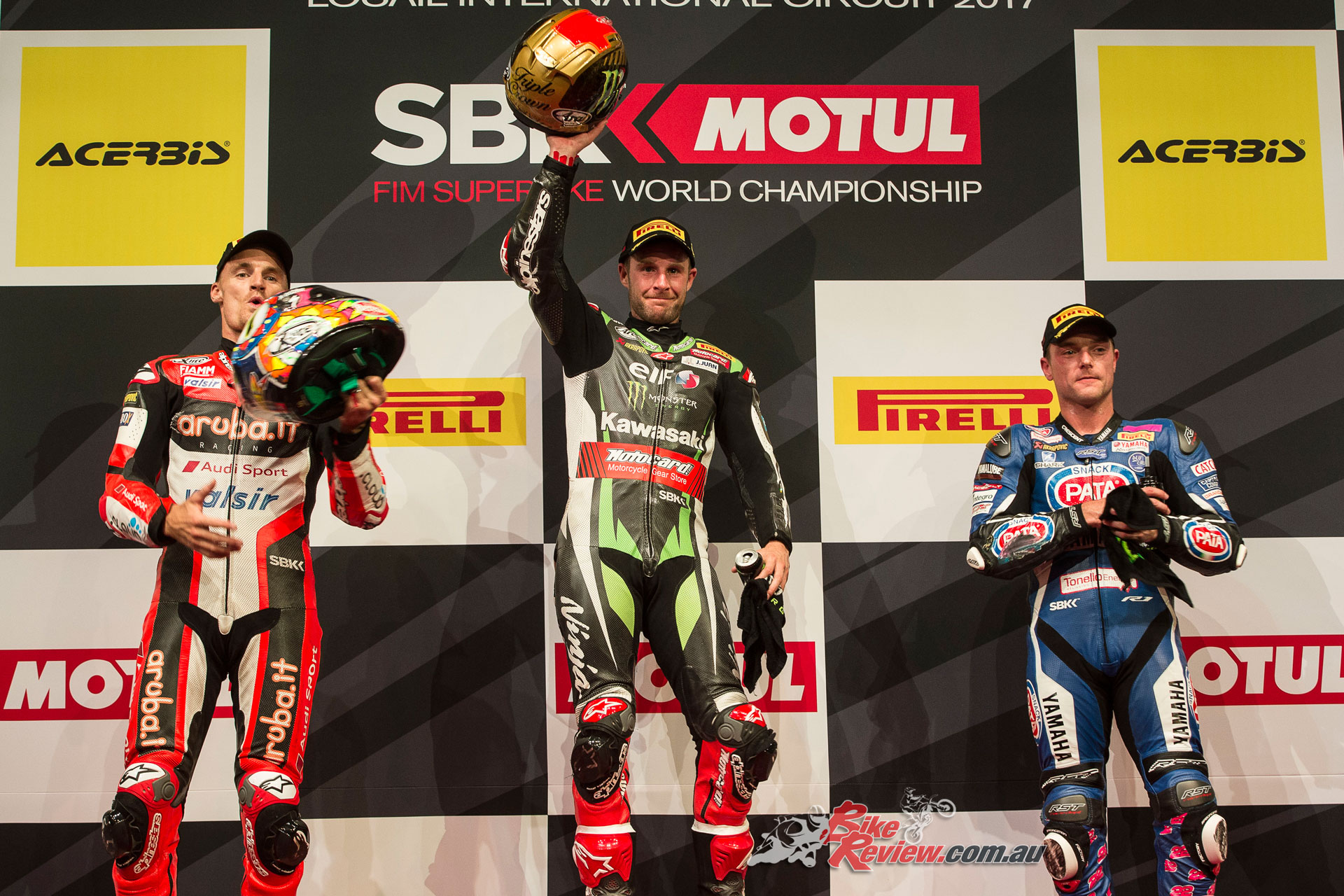 Rea takes another double win, marking a new season record for highest points earnt. Davies takes second overall with his results at Qatar.