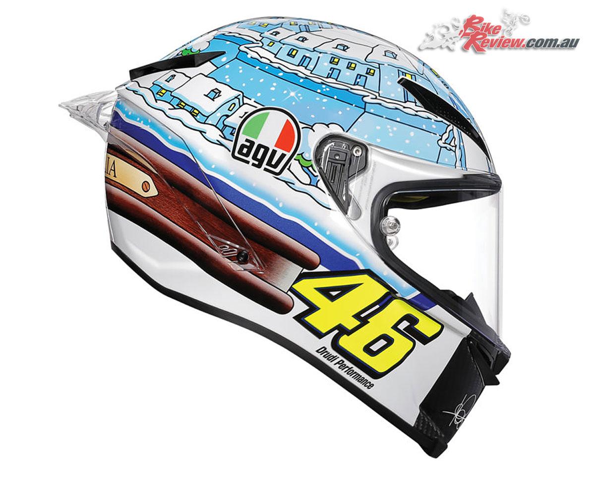 AGV Pista GP R Rossi Winter Test 2017 Helmet - $1,999.00 RRP