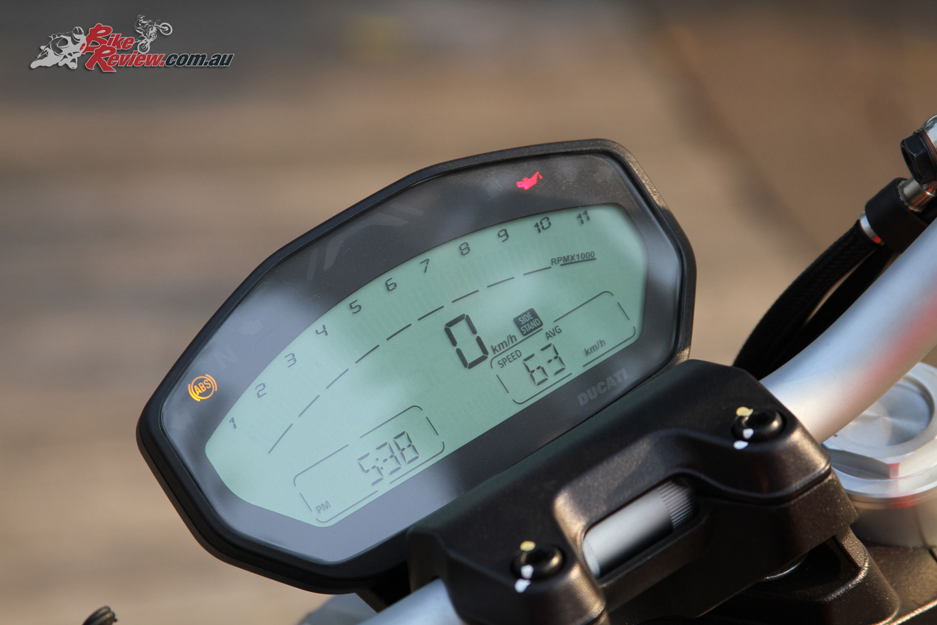 An LCD dash is simple and offers all the information you need at a glance