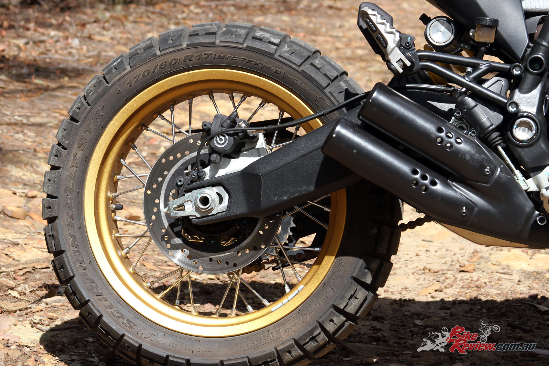A longer swingarm gives great stability