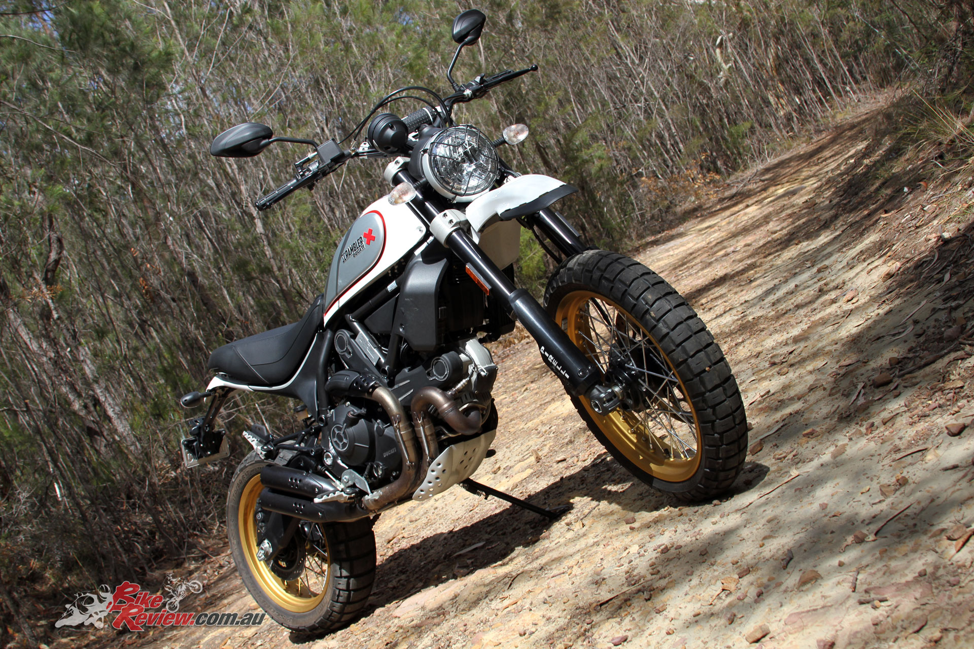 The Scrambler Desert Sled looks the business, but despite the off-road orientation is great on the tarmac