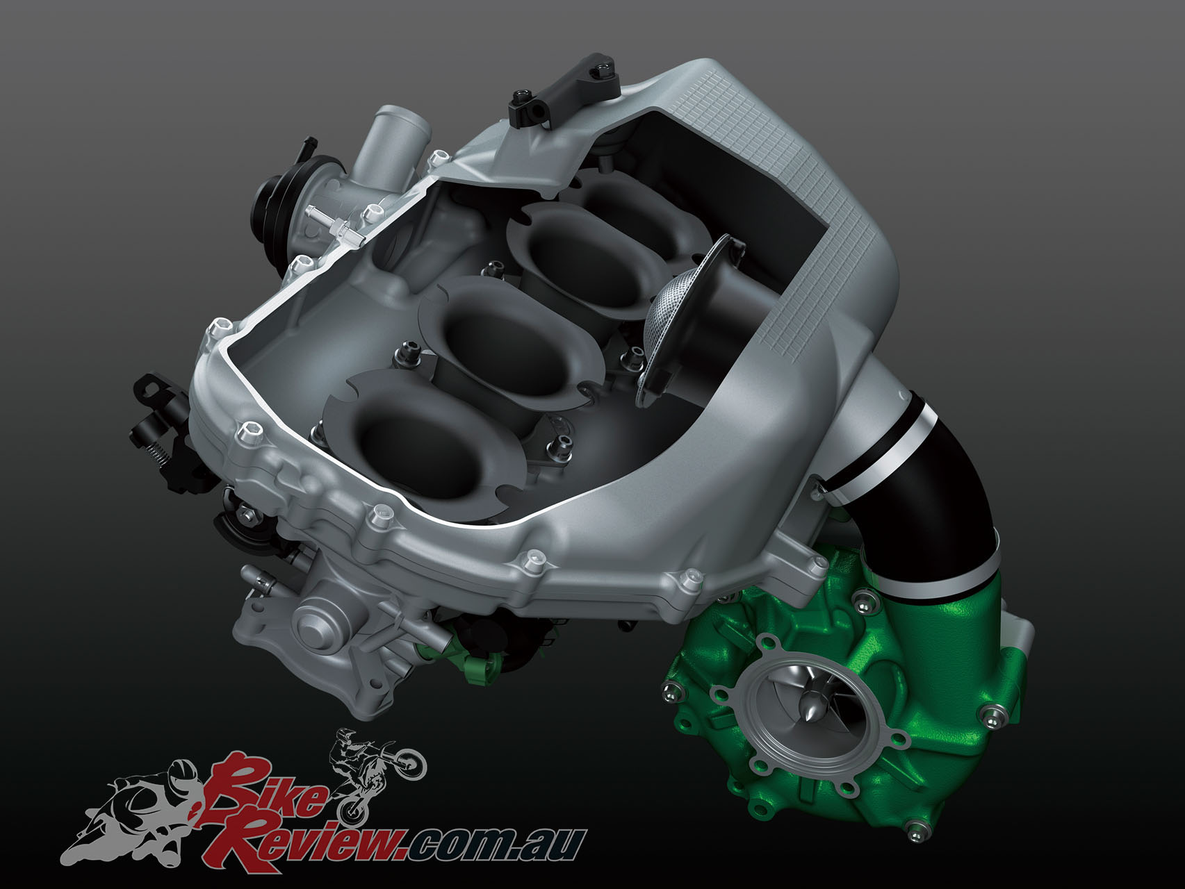 The H2 SX features a smaller intake chamber which is die-cast, and runs cooler and more effeciently.