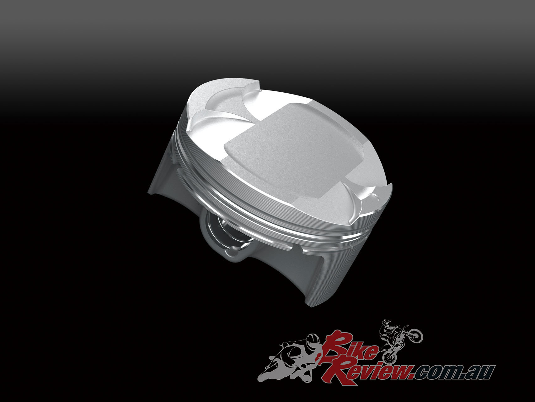 Pistons have revised crowns and are cast in a special Kawasaki technique that offers similar weight to forged
