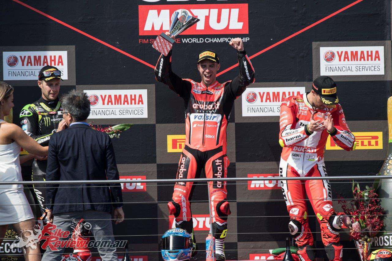 Marco Melandri wins at Phillip Island