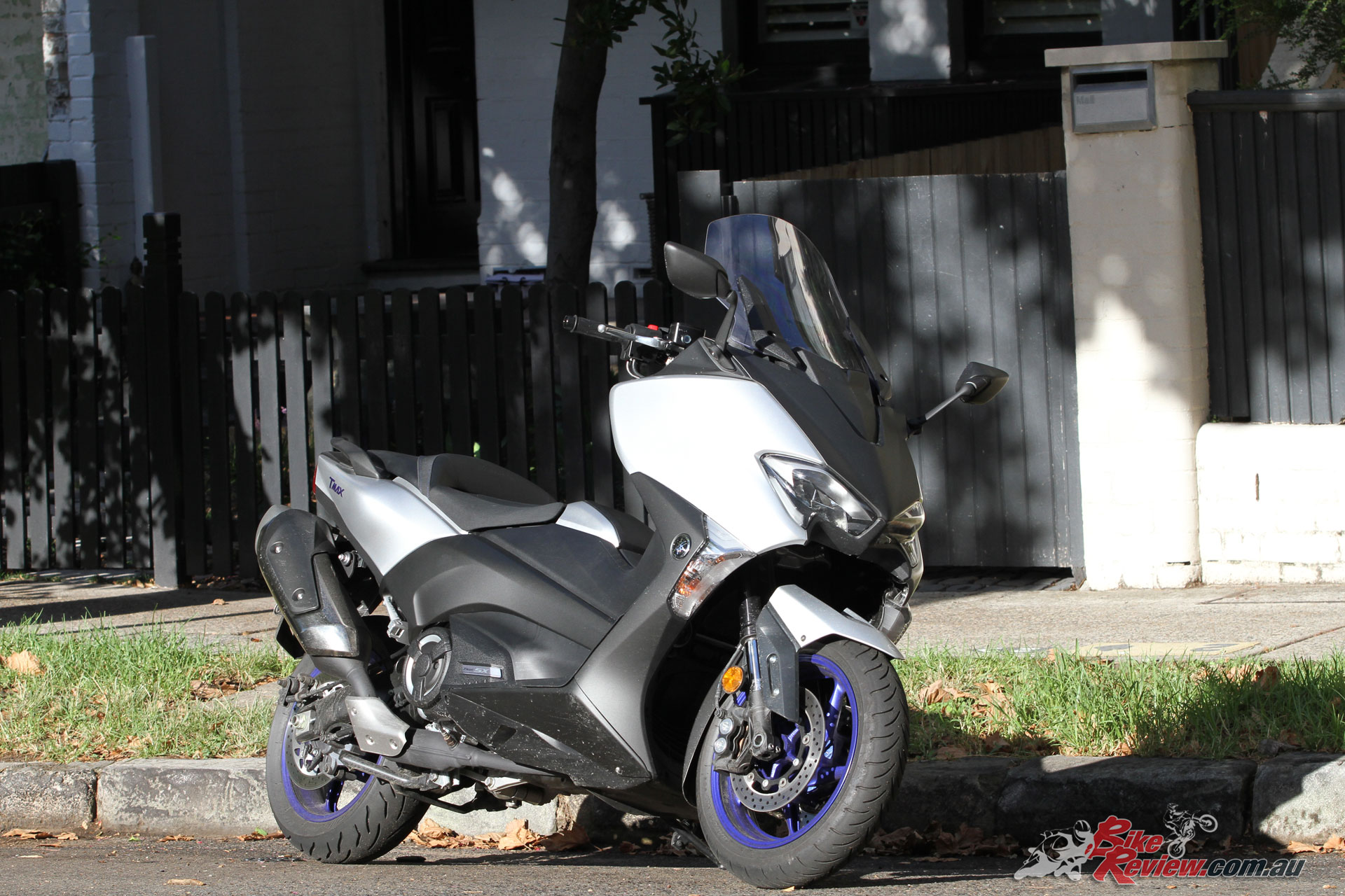 Yamaha's TMax 530 SX is their maxi-scooter, a high performance offering capable of touring