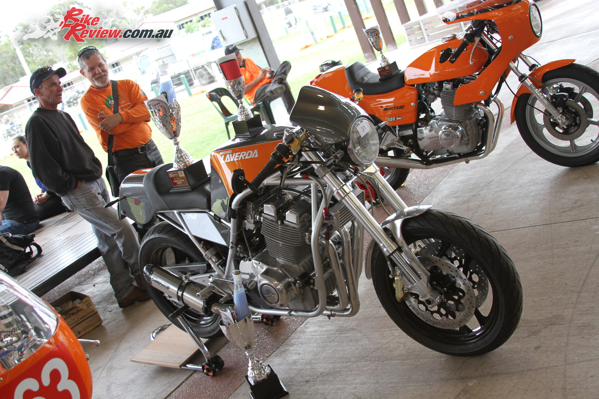 The Laverda Motodd with its silverware at the 2016 Queensland Laverda Concours