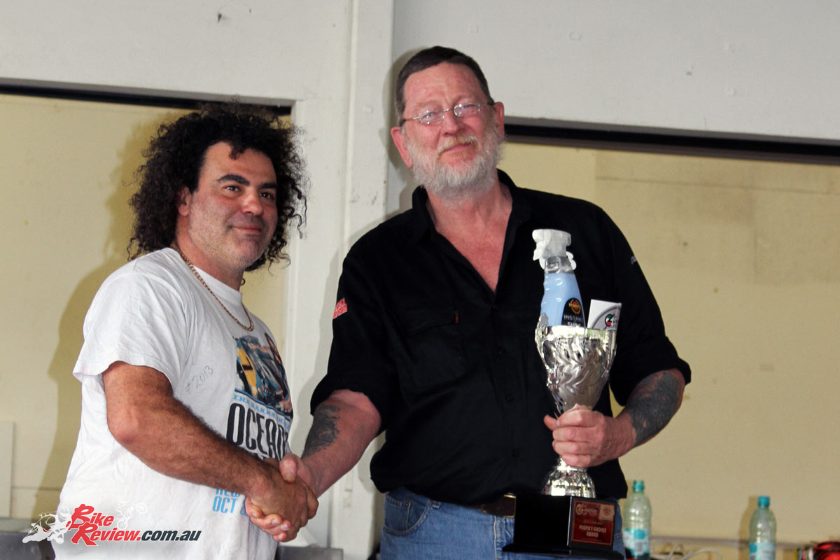 Red receiving one of many awards for his Laverdas at the 2016 Queensland Laverda Concours