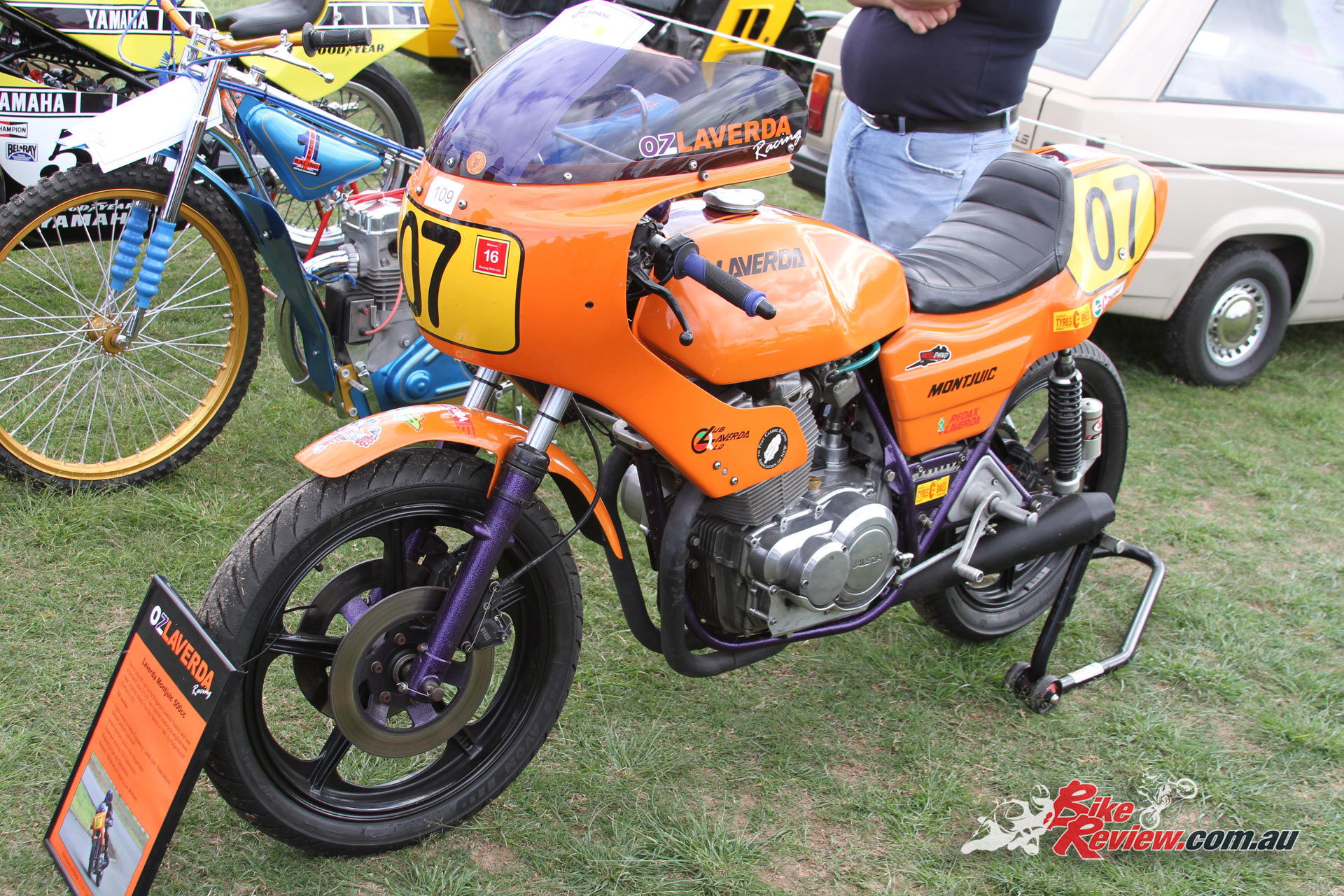 A OzLaverda Racing Montjuic 500 race bike, with engine worked by... you guessed it Redax Laverda!