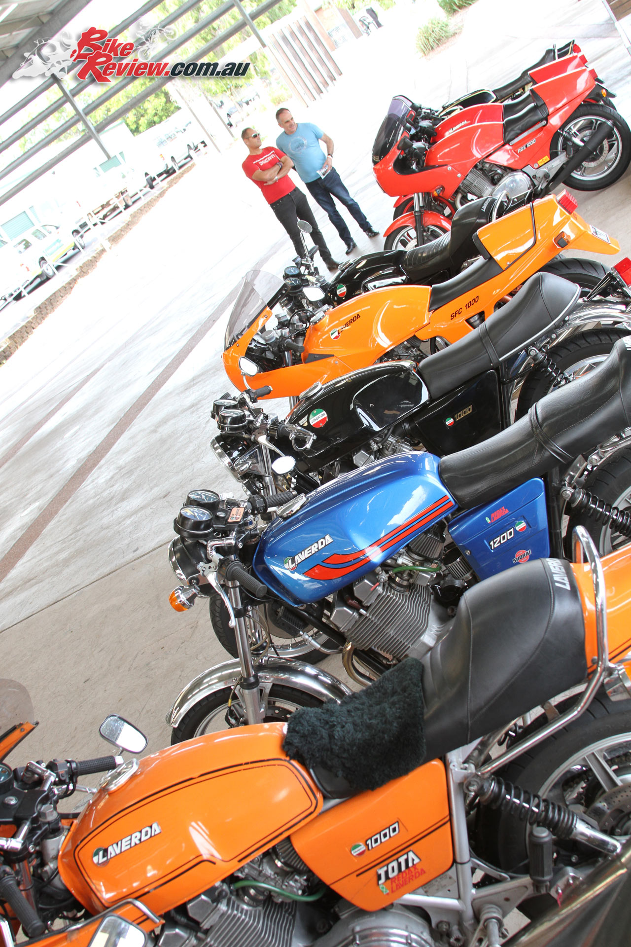 The Laverda line-up at the 2016 Concours