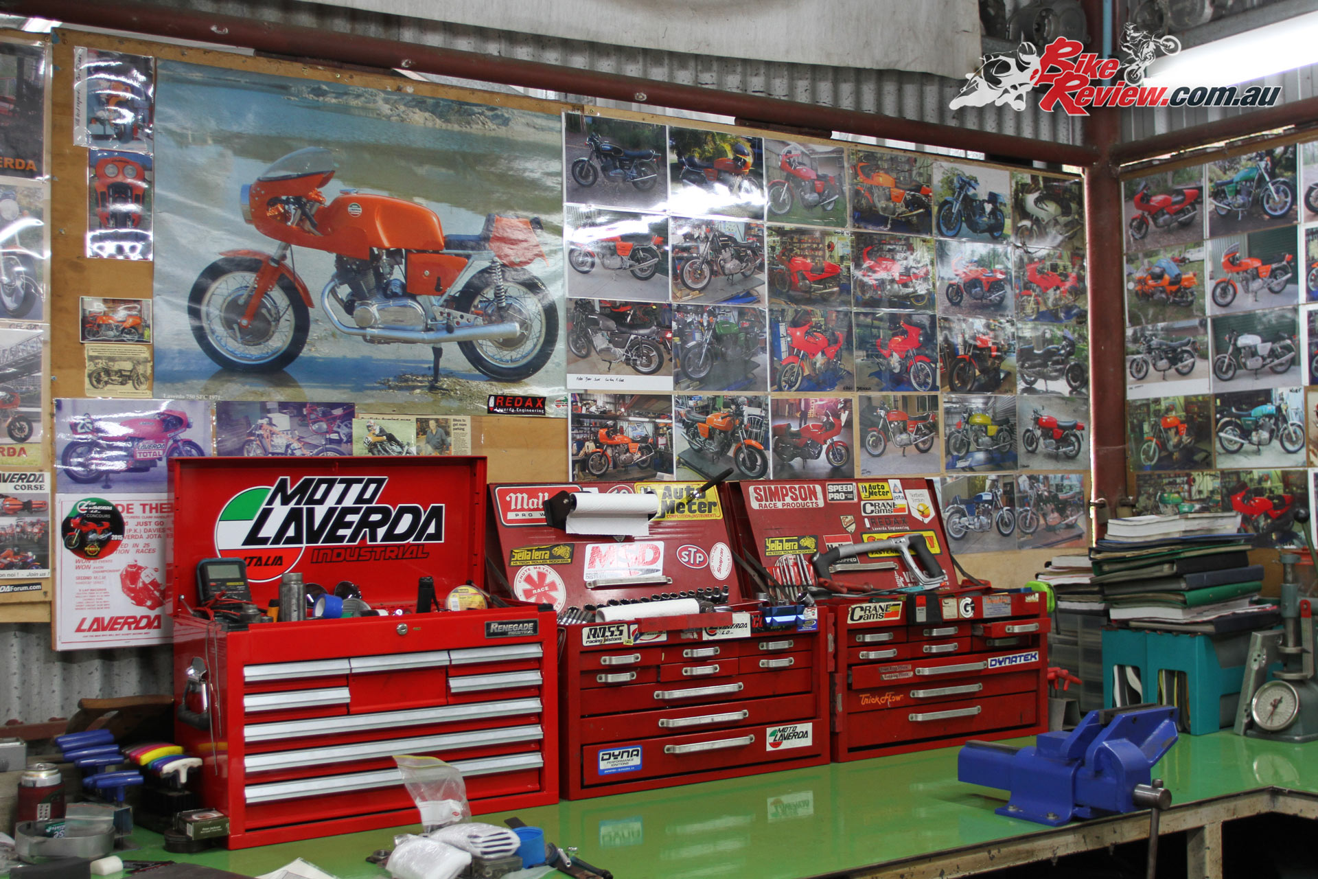 Redax Laverda Workshop - All the Laverdas that Red has worked on