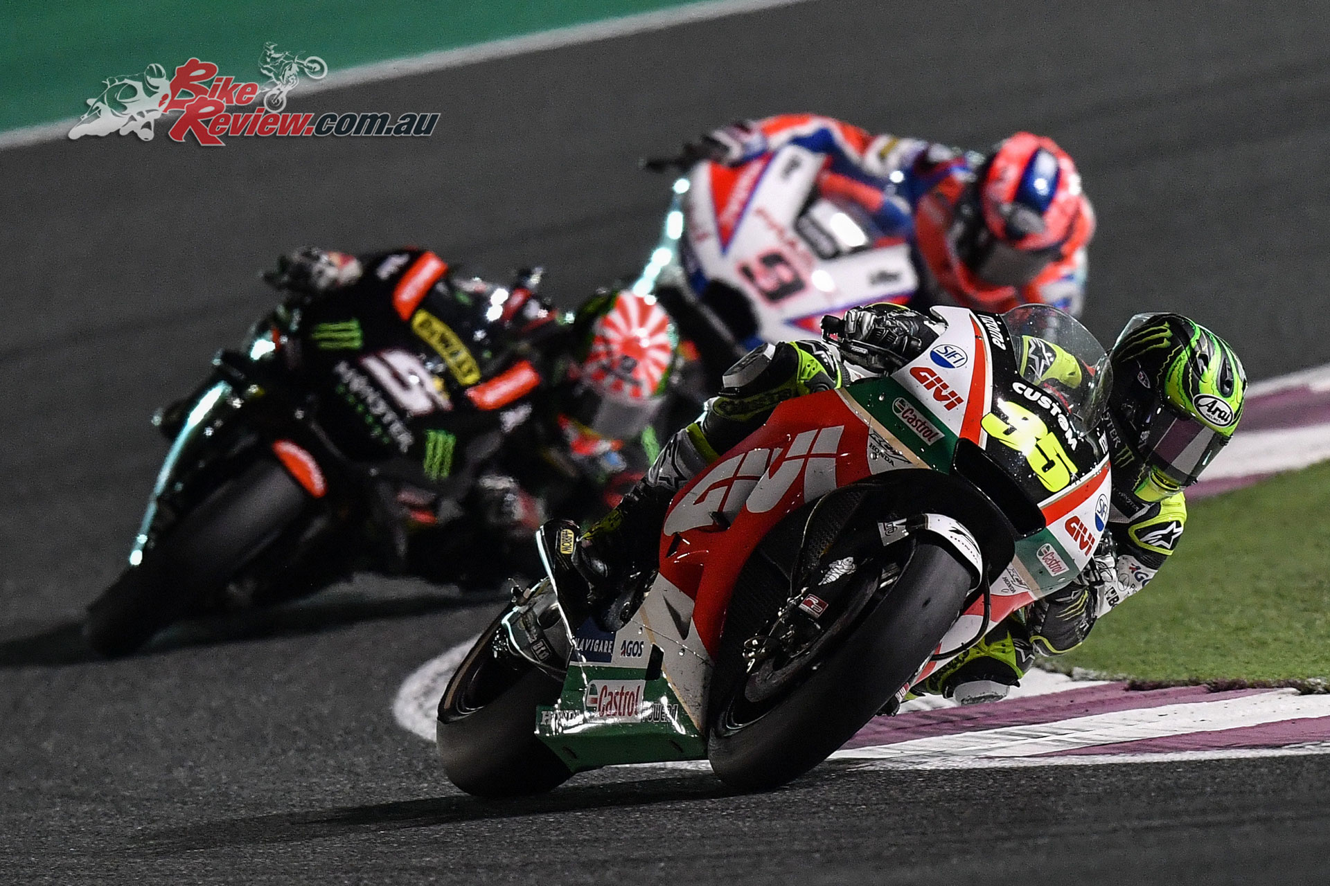 Cal Crutchlow was leading independent rider in fourth
