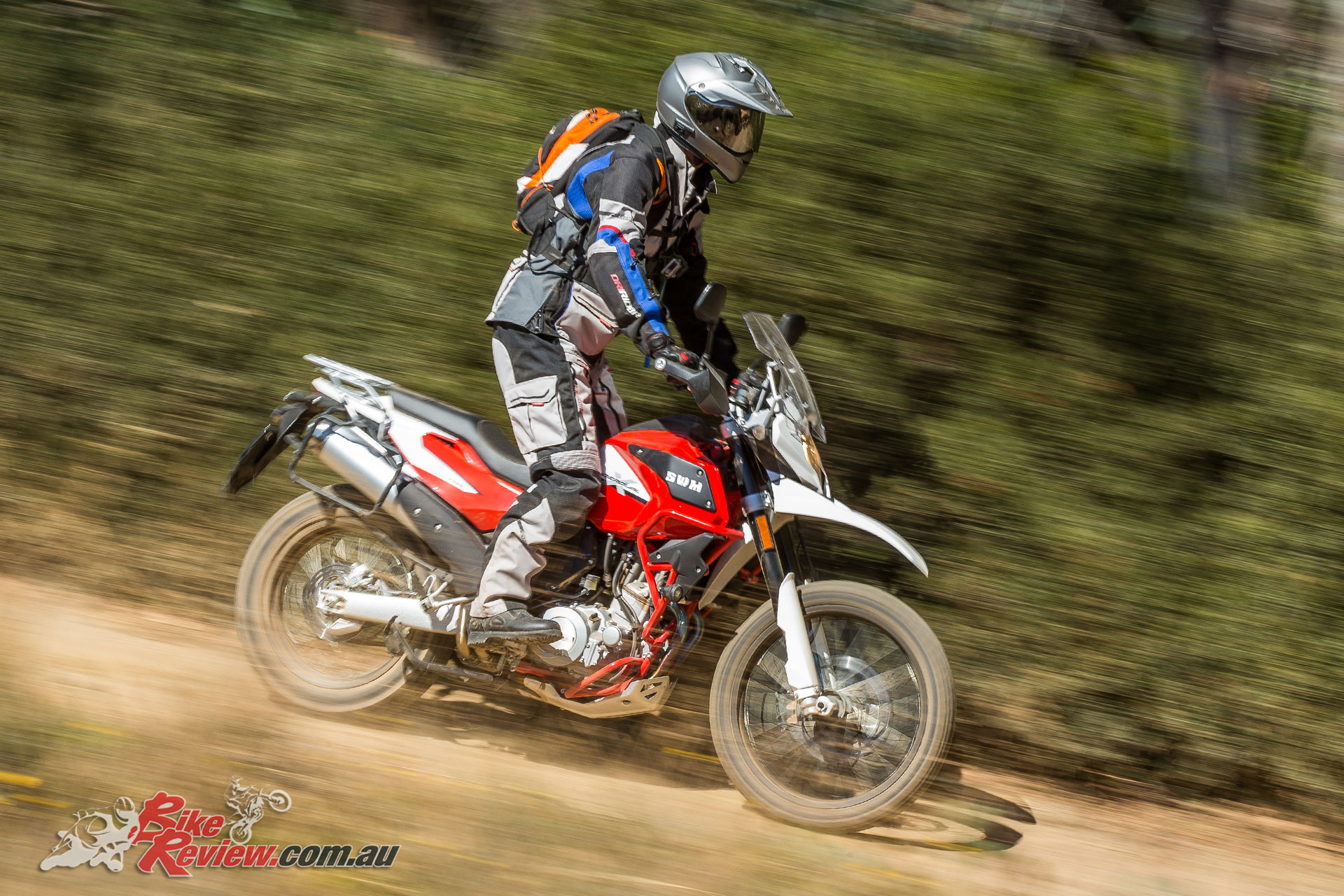 Braking limitations are felt due to the ABS system off road, where the front can't be turned off, only the rear