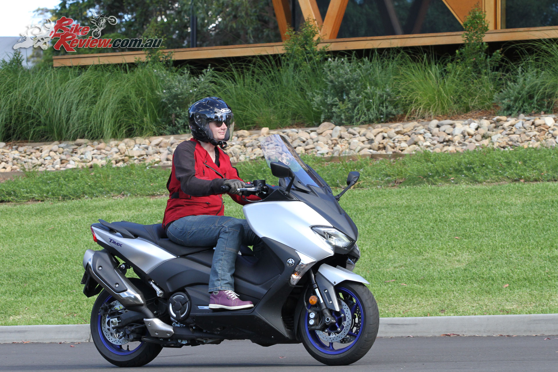A low centre of gravity and smooth acceleration make the TMax fun to ride