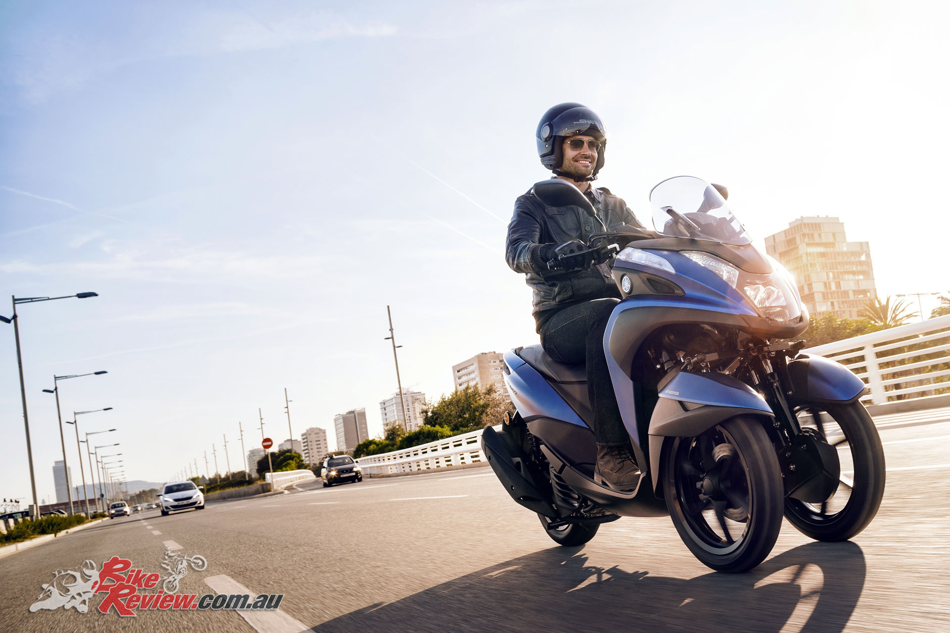 Yamaha's 2018 Tricity 155 features the new 155cc Blue Core powerplant and a new frame - Image courtesy of Yamaha Motor Europe