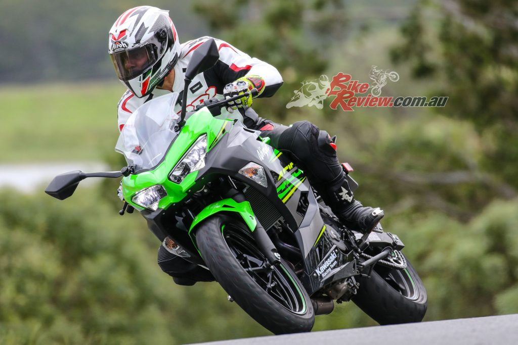 Geometry is learner friendly and it is no KR1S250 but the Ninja 400 is still a Boy or Girl Racer's dream to ride on track.