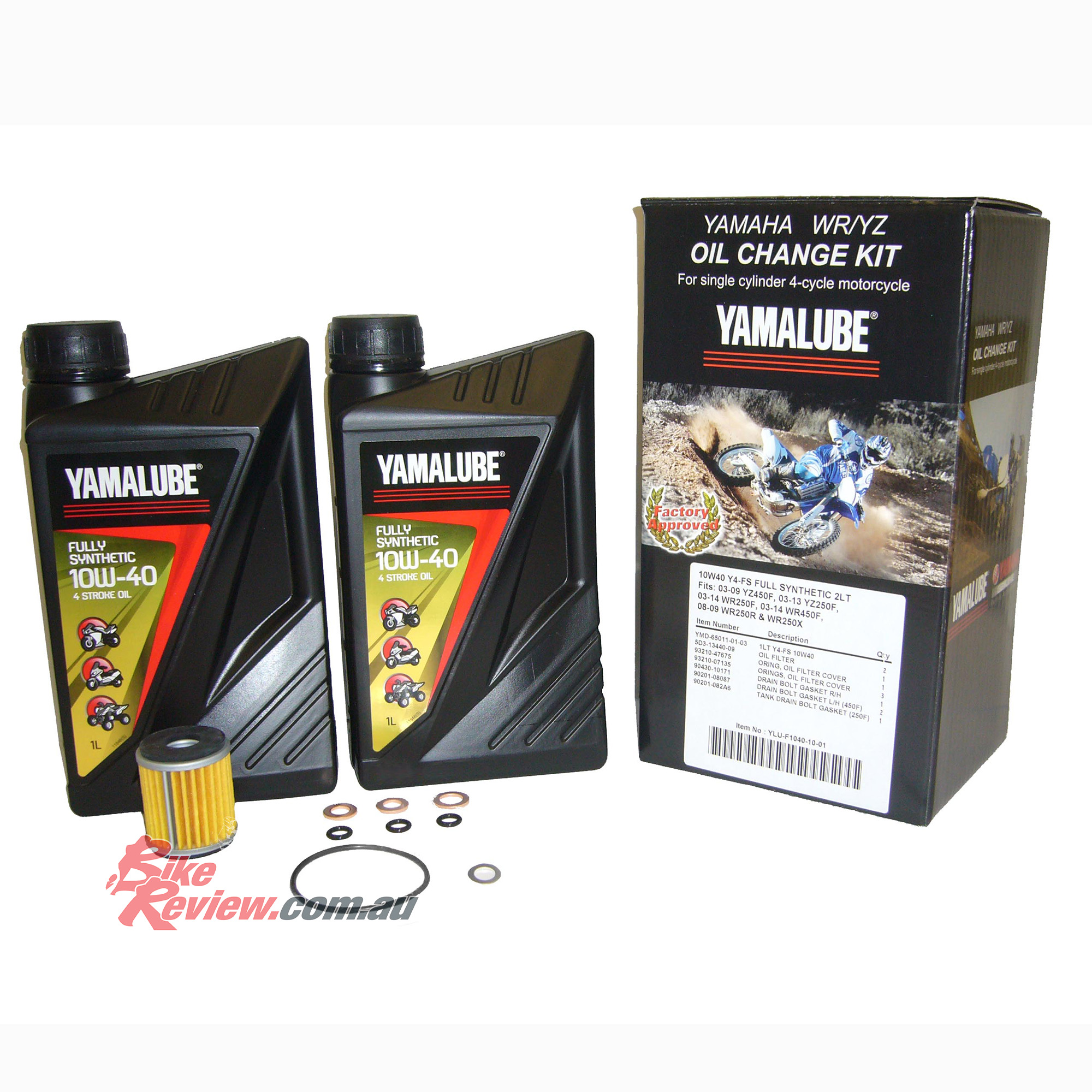 BikeReview Yamalube oil change kit