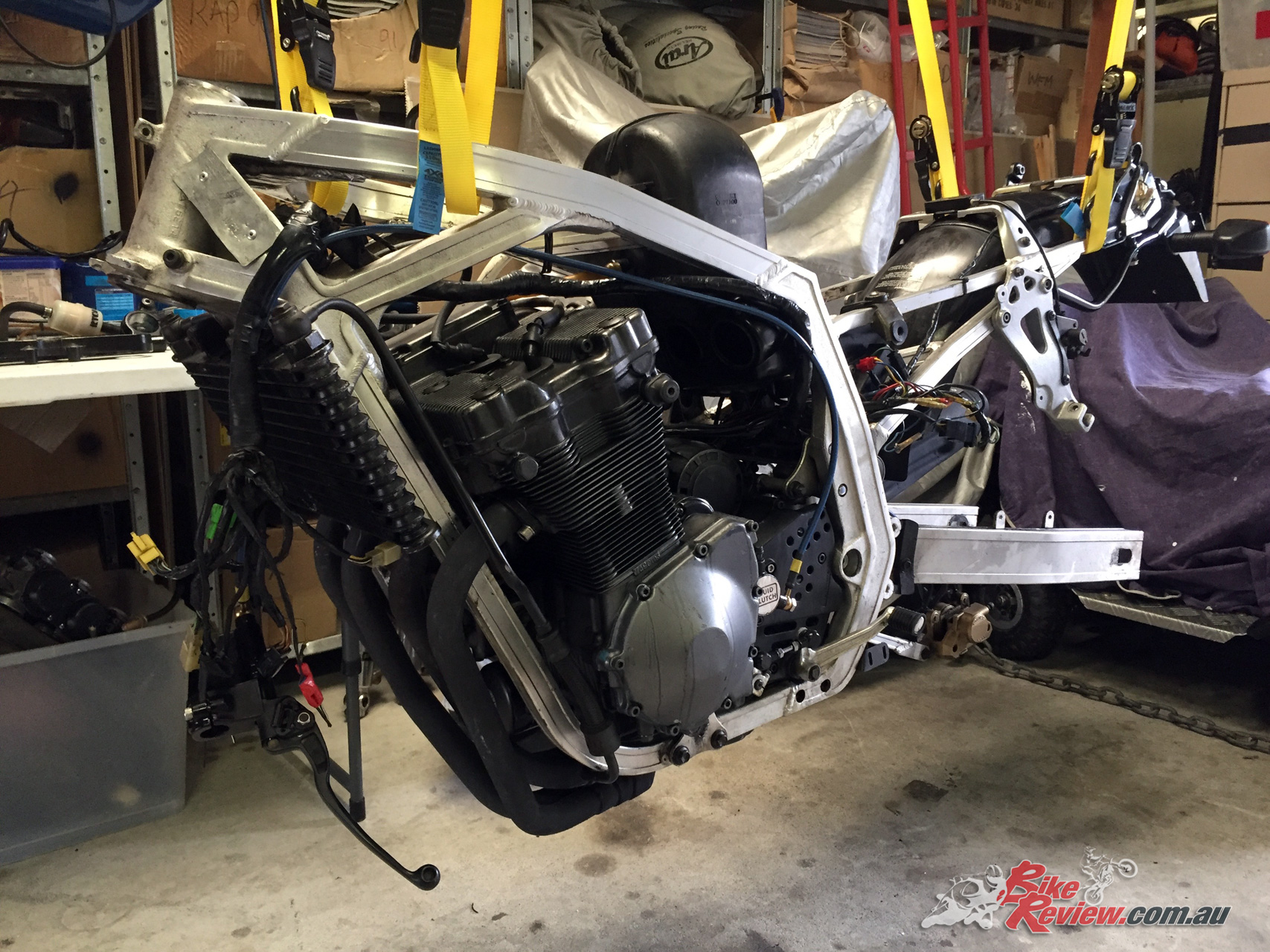 Serious motorcycle work has the side-effect of taking your bike off the road!
