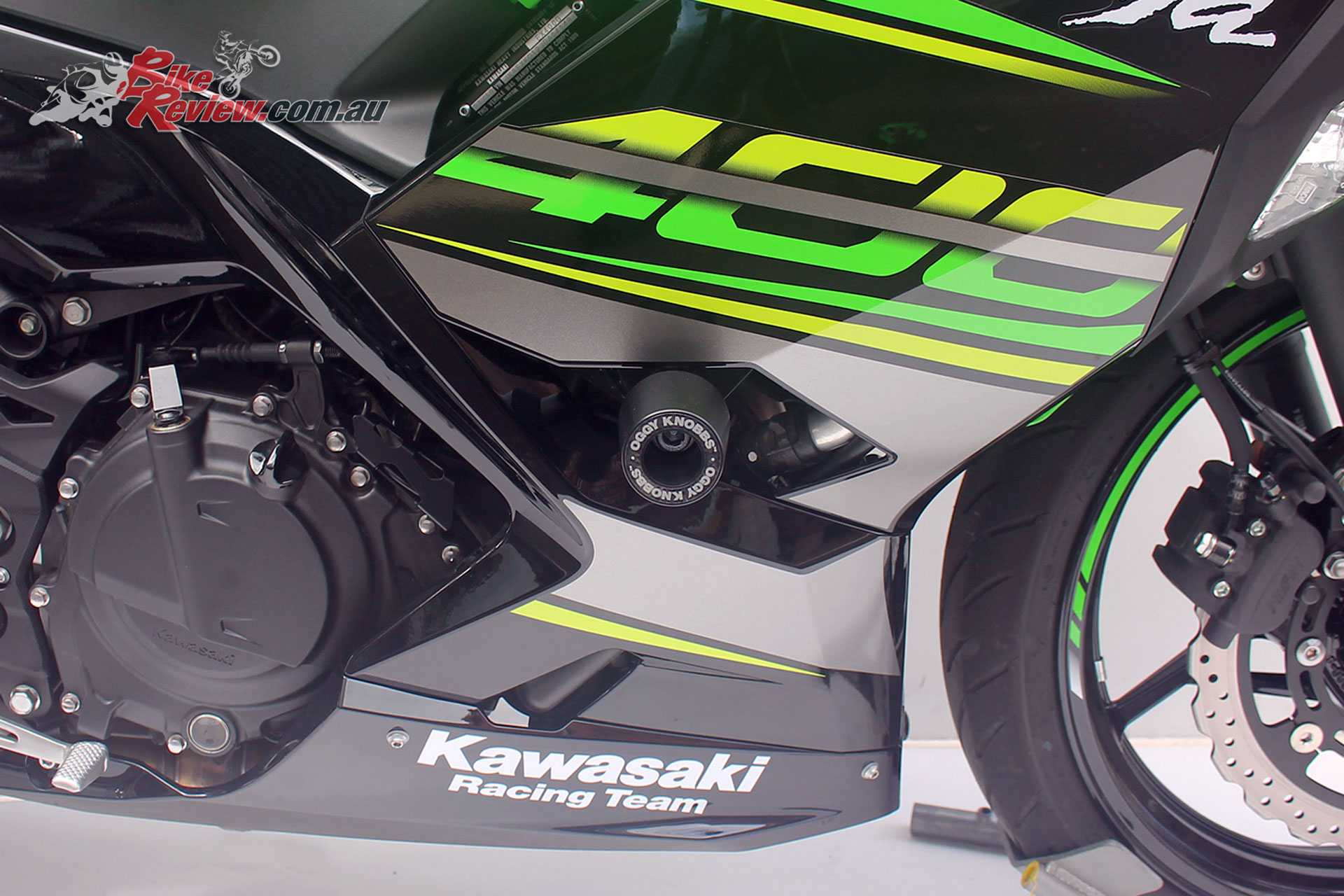 Promoto Oggy Knobbs for the 2018 Kawasaki Ninja 400
