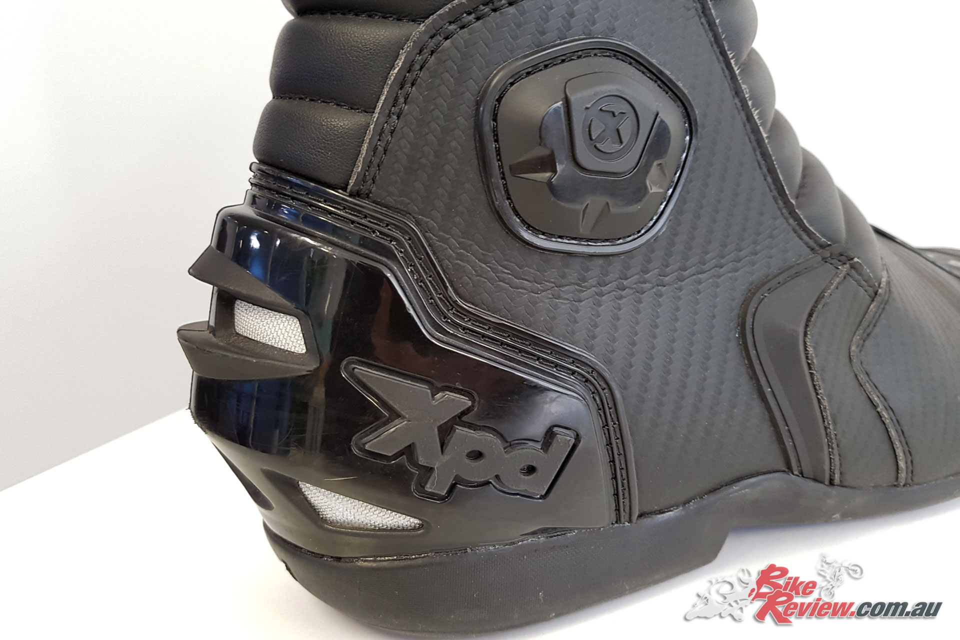 Carbon-style outer replaces the leather on my previous XP3-S boots, with all the same safety and airflow features