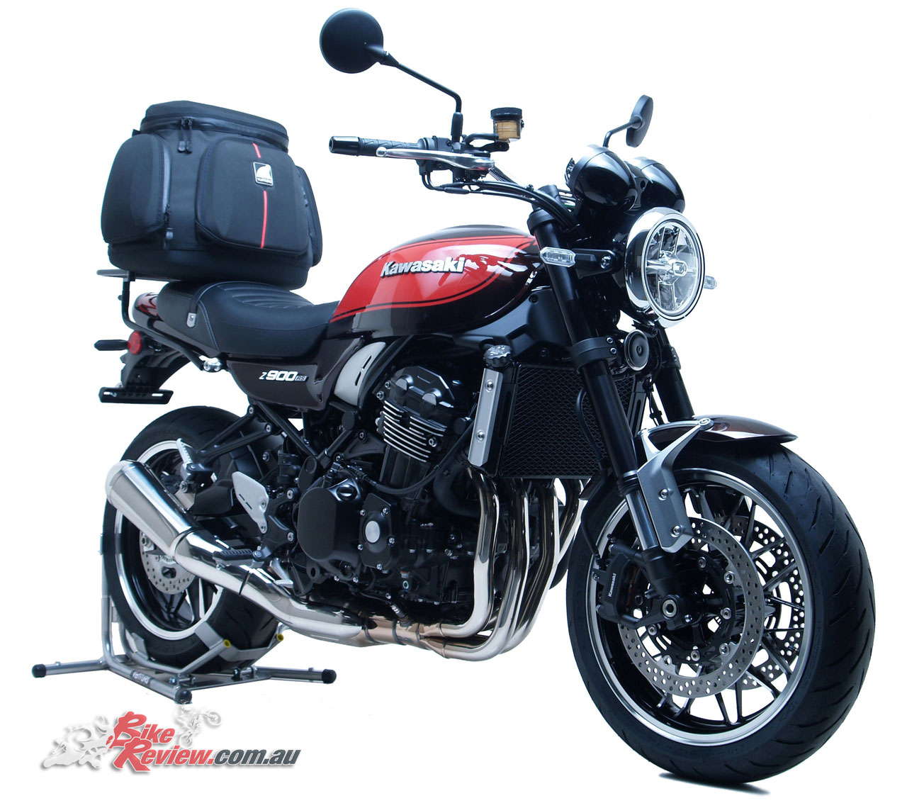 The 2018 Z900RS with the Mistral 47L Touring Kit