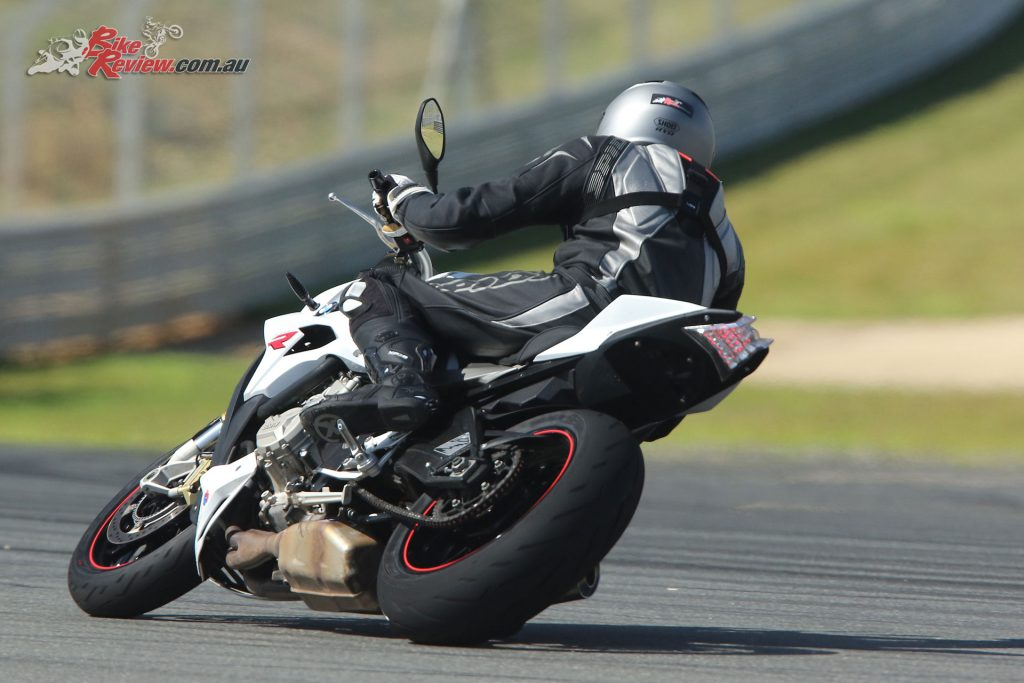 The rear tyre gives good sidewall support off turns when on the gas.