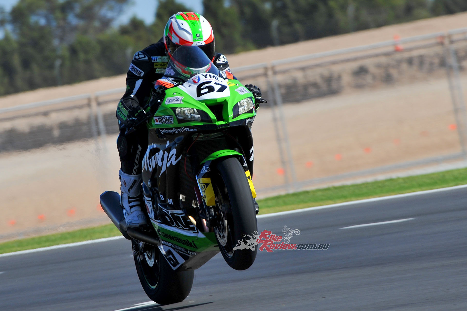 Our very own Super 67 Bryan Staring on the gas at The Bend ASBK Pic: Foremost Media