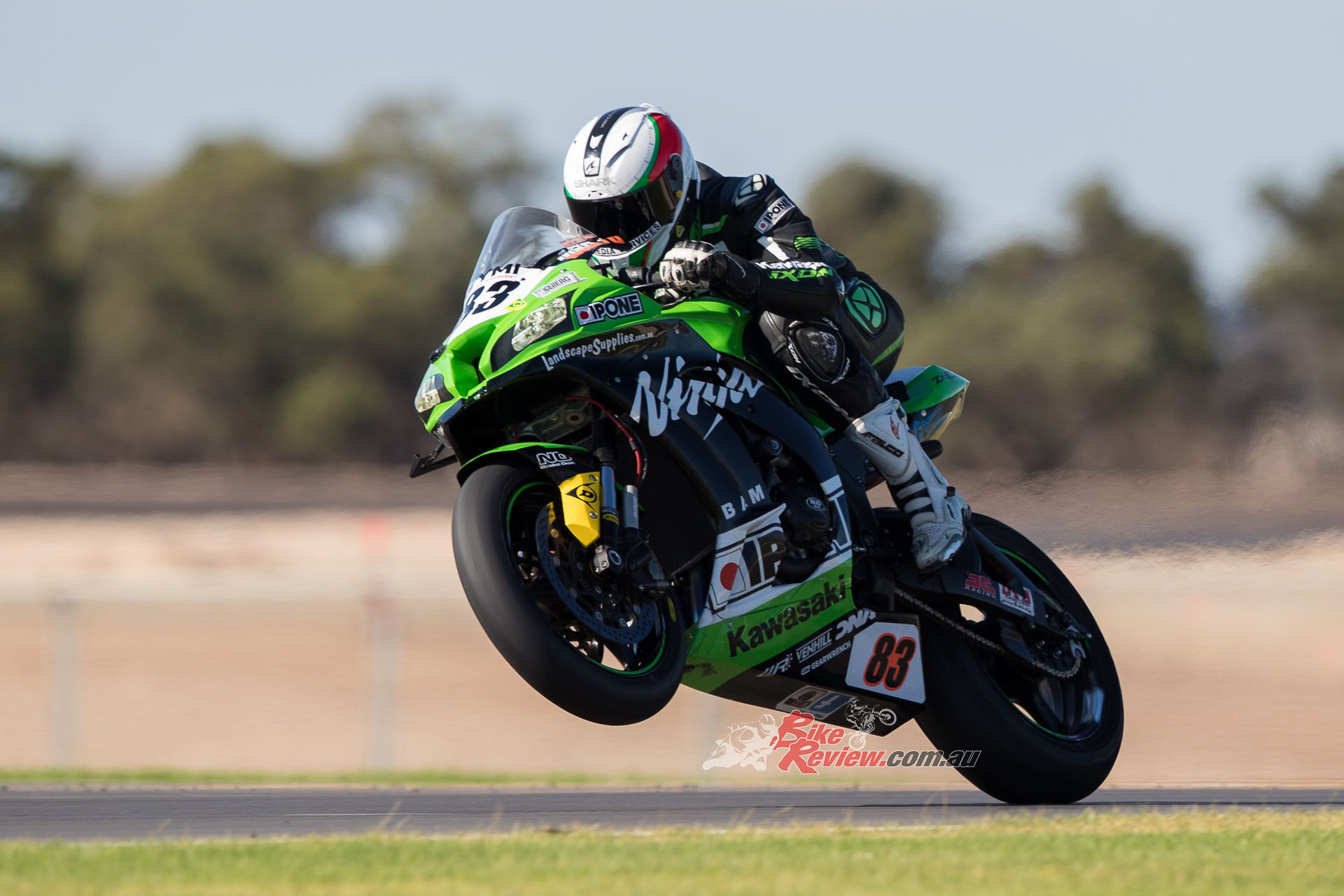 Kyle Buckley is coming to terms with the BC Performance Ninja ZX-10R Superbike. Pic: Foremost Media