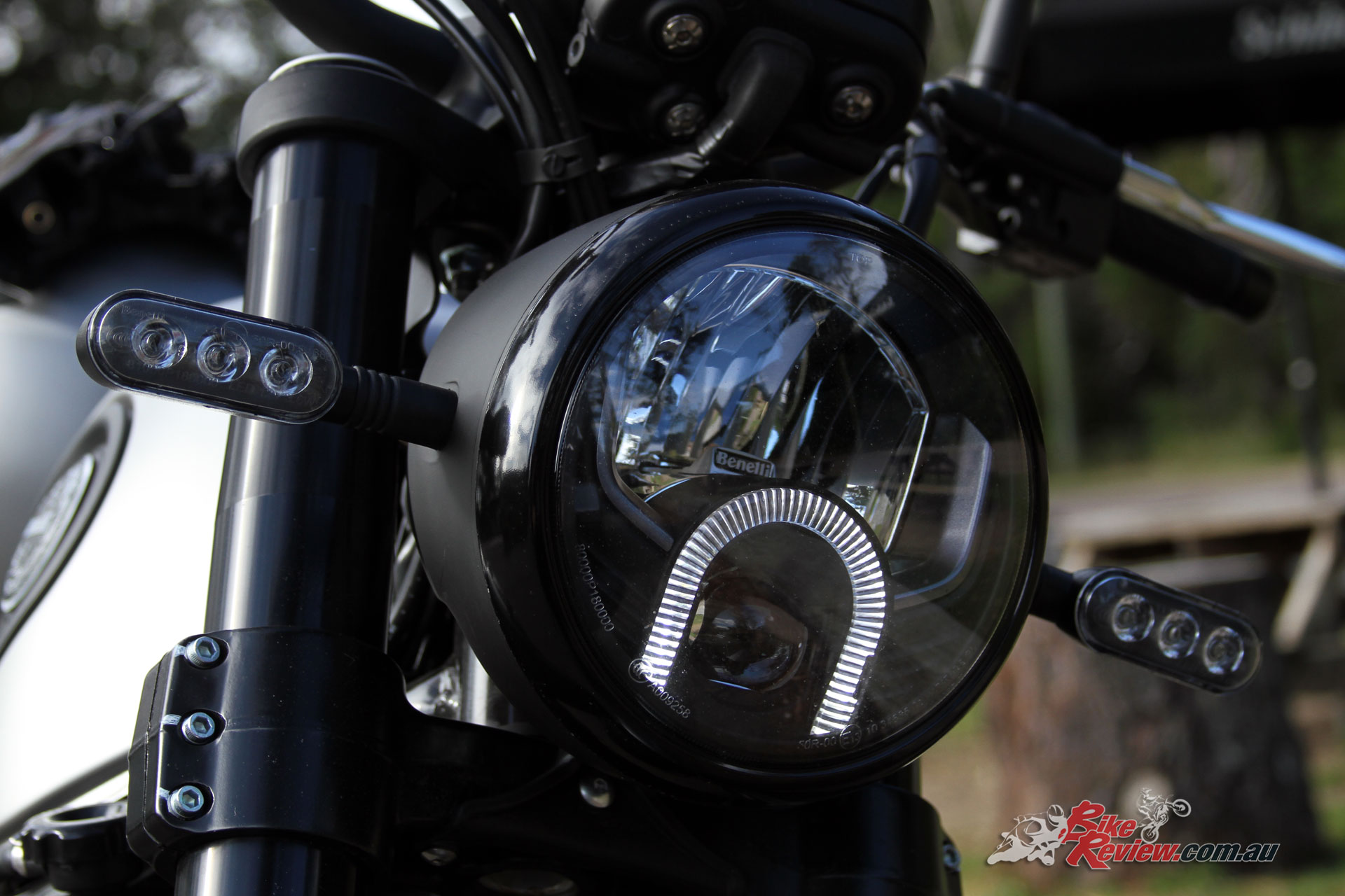 Headlight and indicators look the business and do a great job